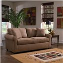 Klaussner Brighton Dreamquest Queen Sleeper Sofa with Rolled Arms - Sofa Shown May Not Represent Exact Features Indicated