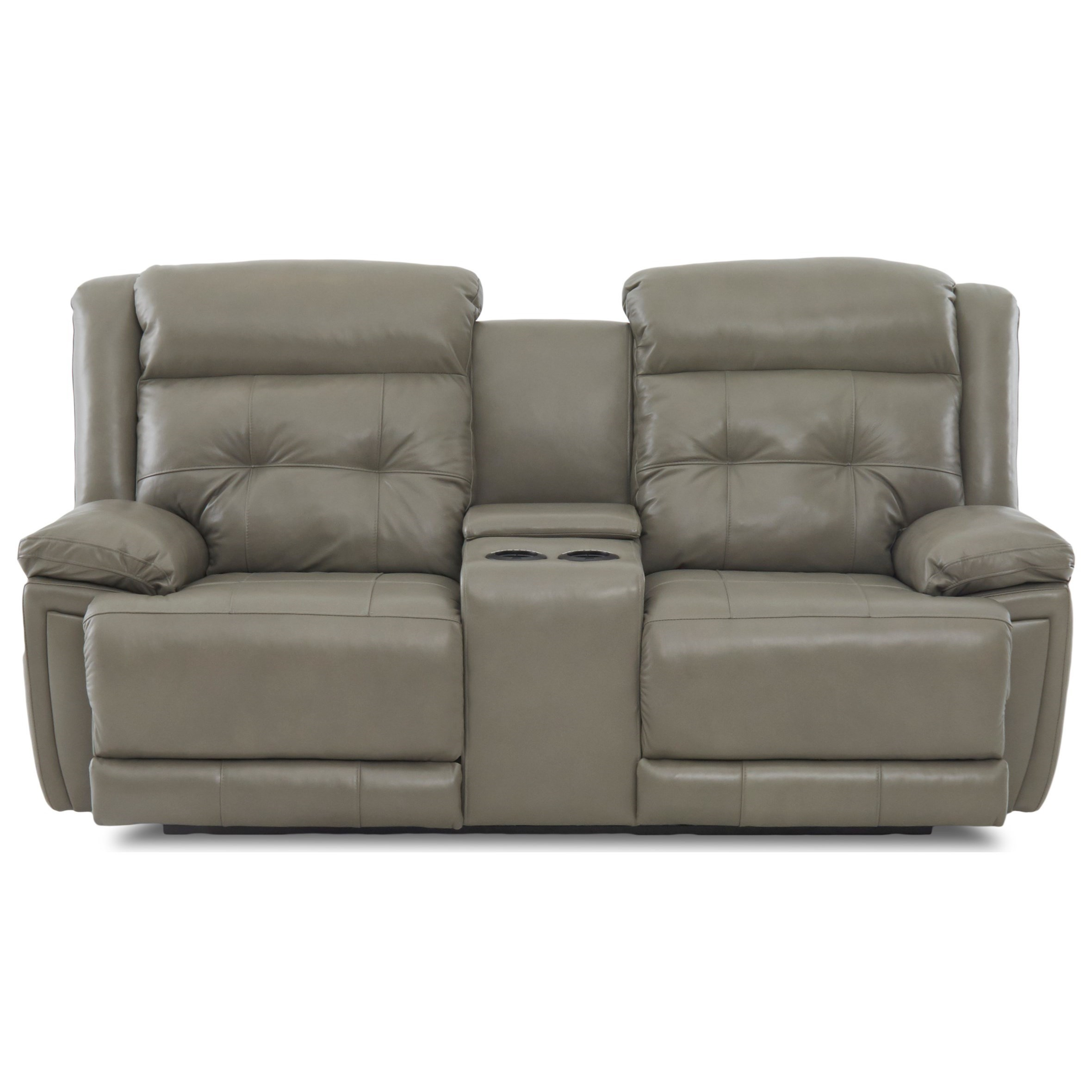 Casual Power Reclining Console Loveseat with Power Headrest and USB Port