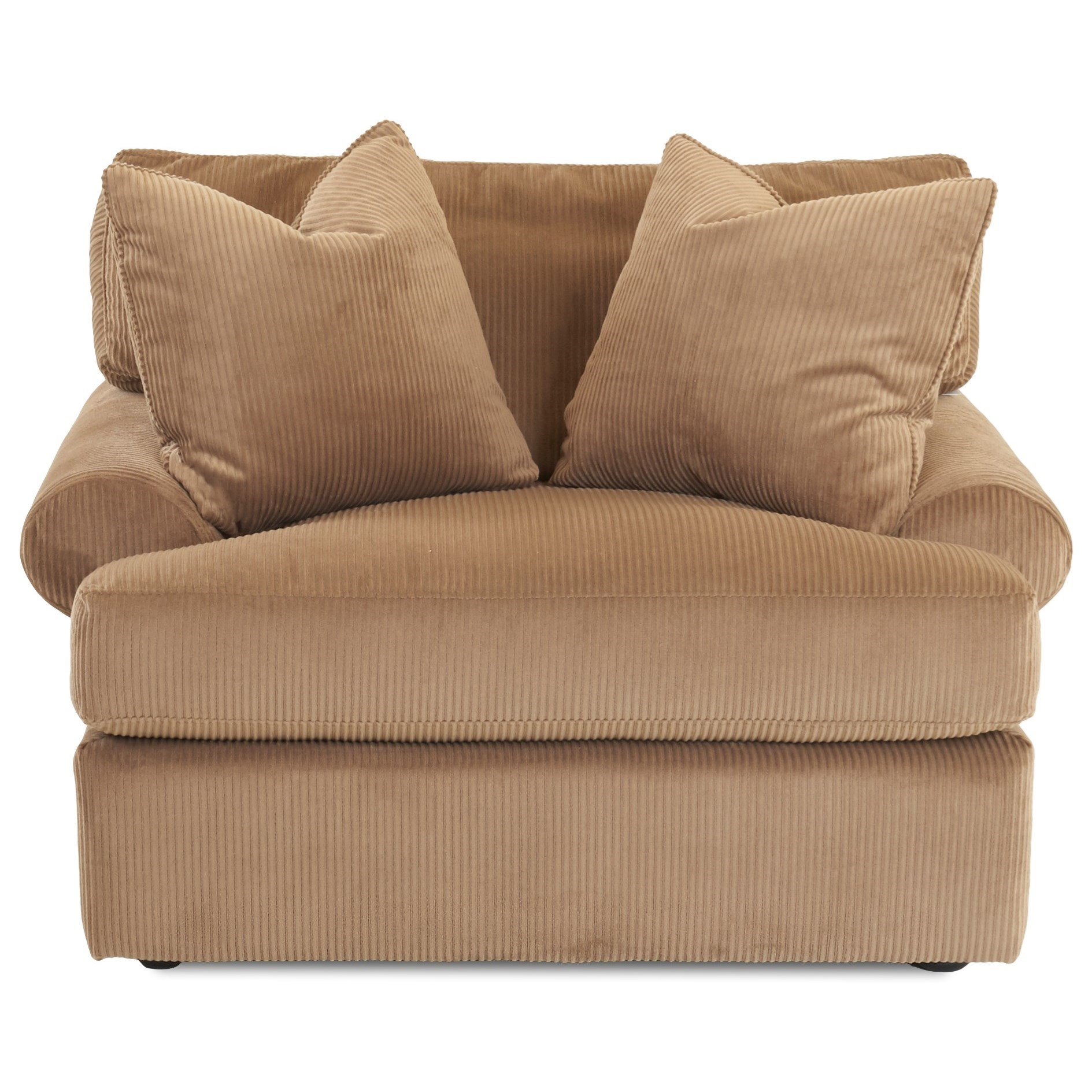 Casual Oversized Chair with 2 Pillows