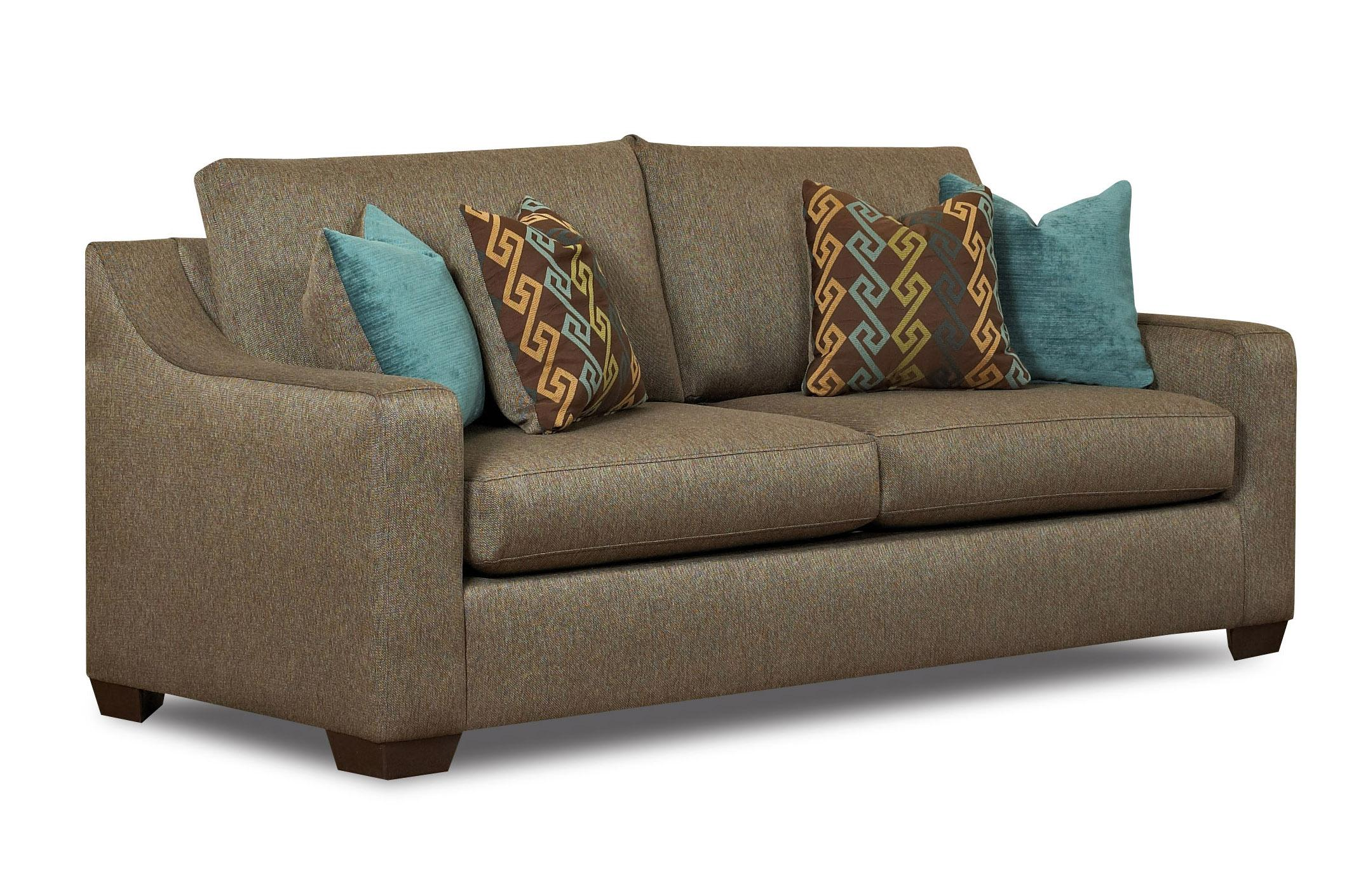 Contemporary Enso Sleeper Sofa with Sloped Arms and Loose Back