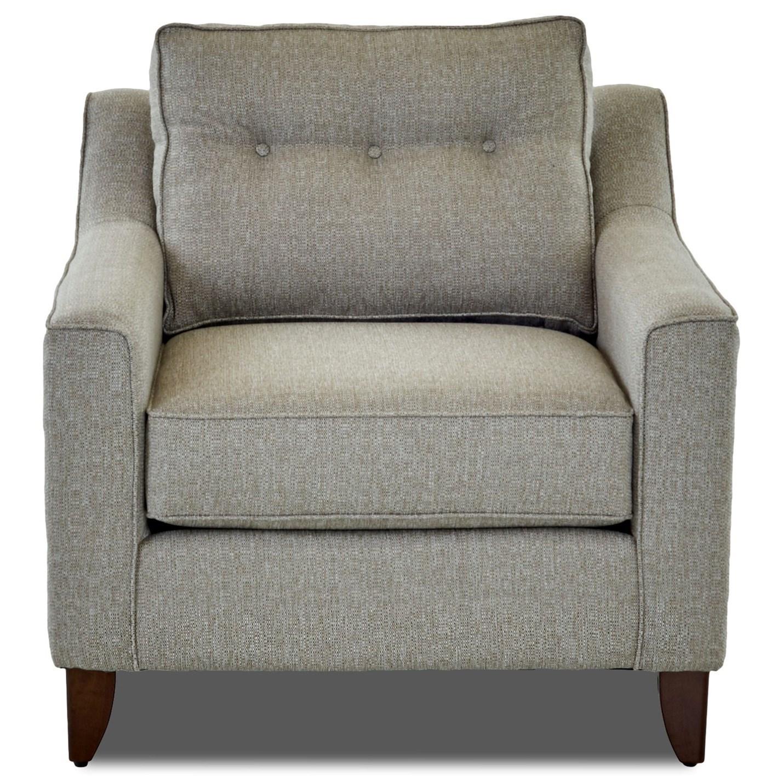 Mid-Century Modern Style Arm Chair with Tufted Cushion