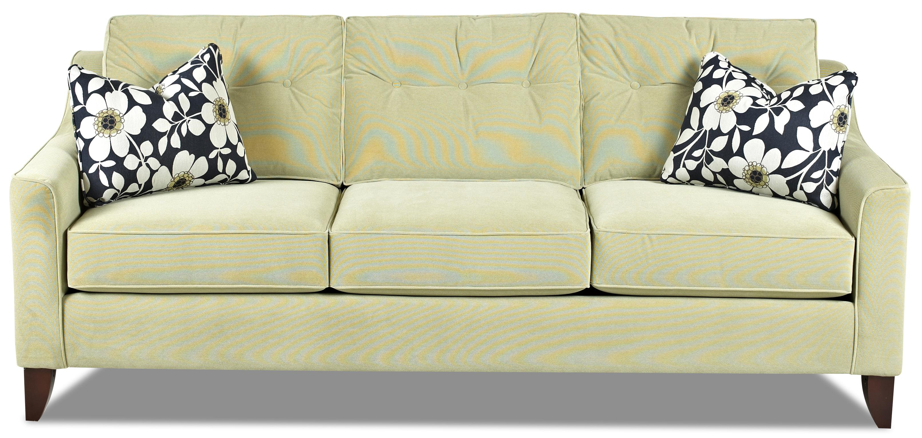mid-century modern style sofa with tufted cushionsklaussner