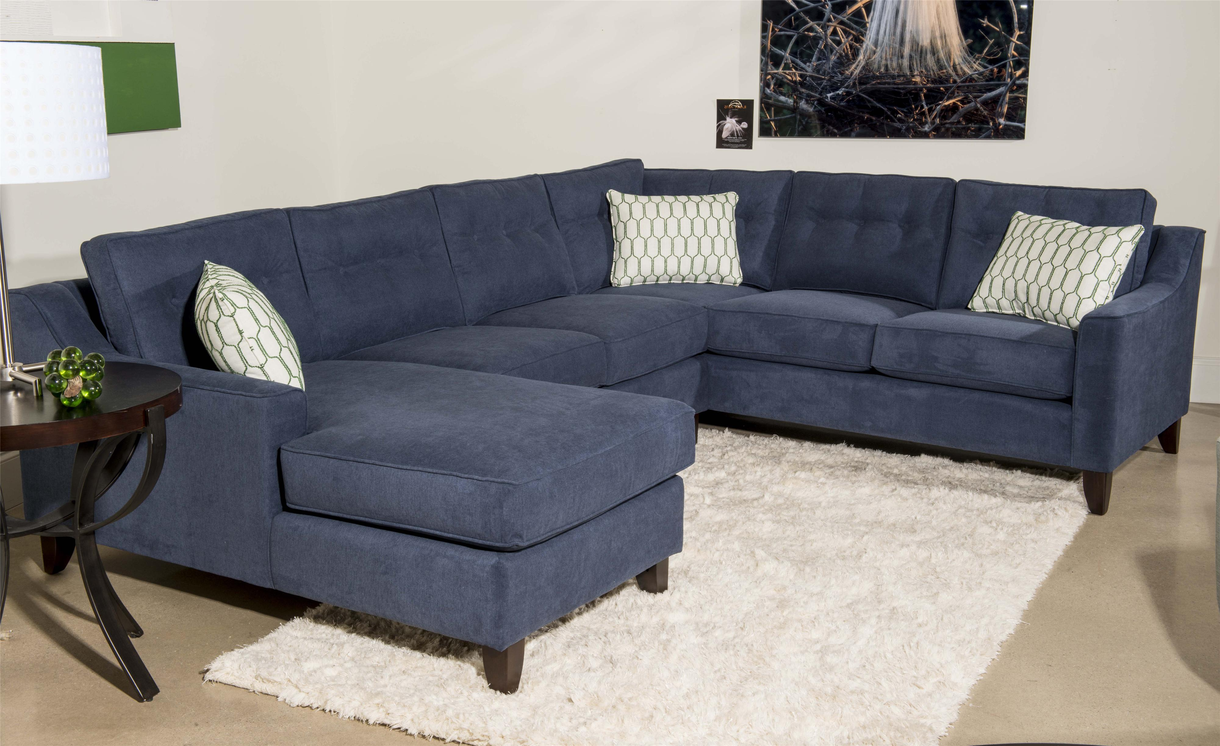 Contemporary 3 Piece Sectional Sofa with Chaise by Klaussner