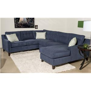 Klaussner Audrina Contemporary 3 Piece Sectional Sofa