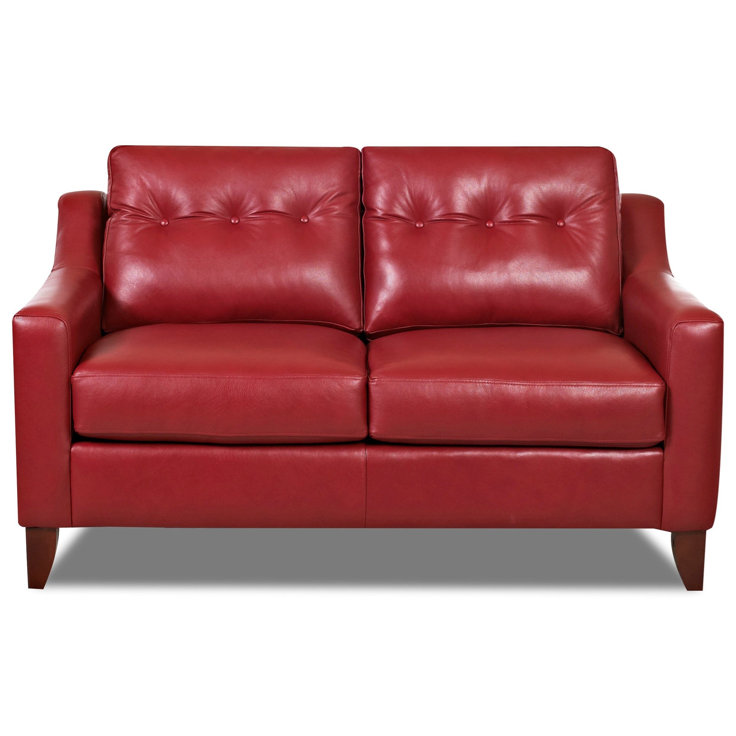 Astounding Mid Century Modern Style Loveseat With Tufted Cushions By Bralicious Painted Fabric Chair Ideas Braliciousco
