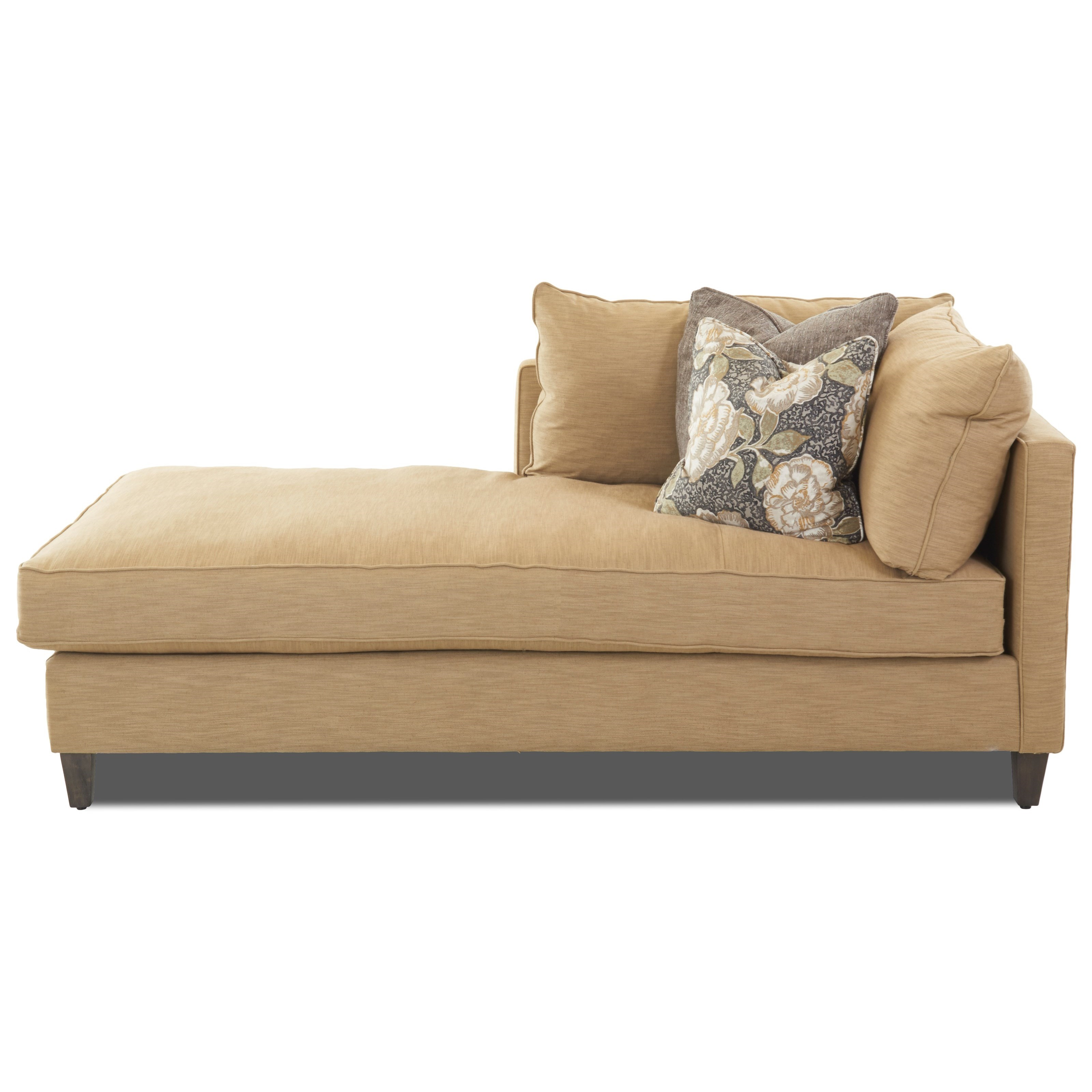 1 Arm Left Facing Chaise Lounge with Down Blend Cushions