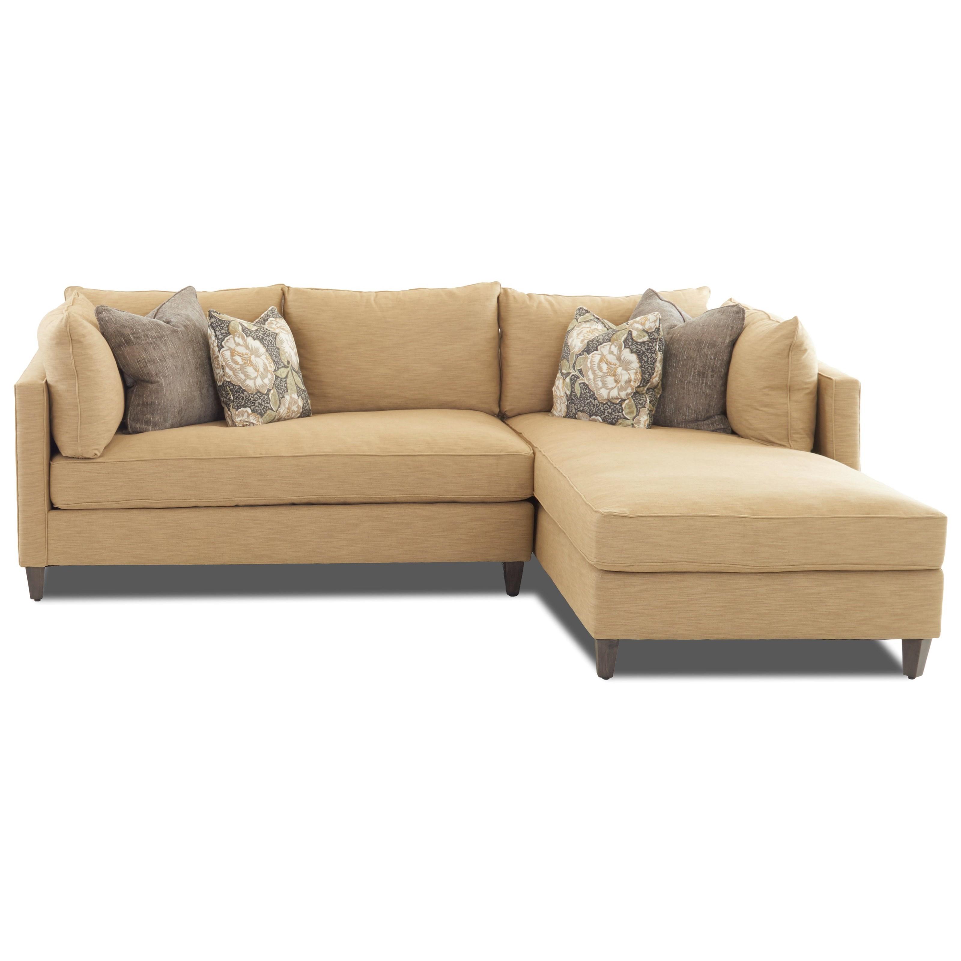Modular Sofa Chaise with Down Blend Cushions