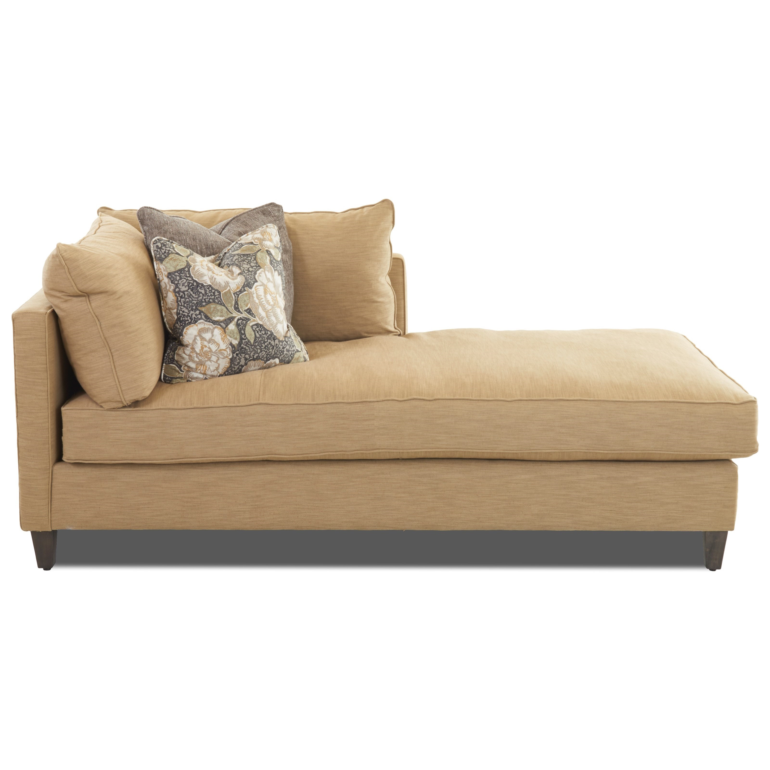 1 Arm Right Facing Chaise Lounge with Down Blend Cushions