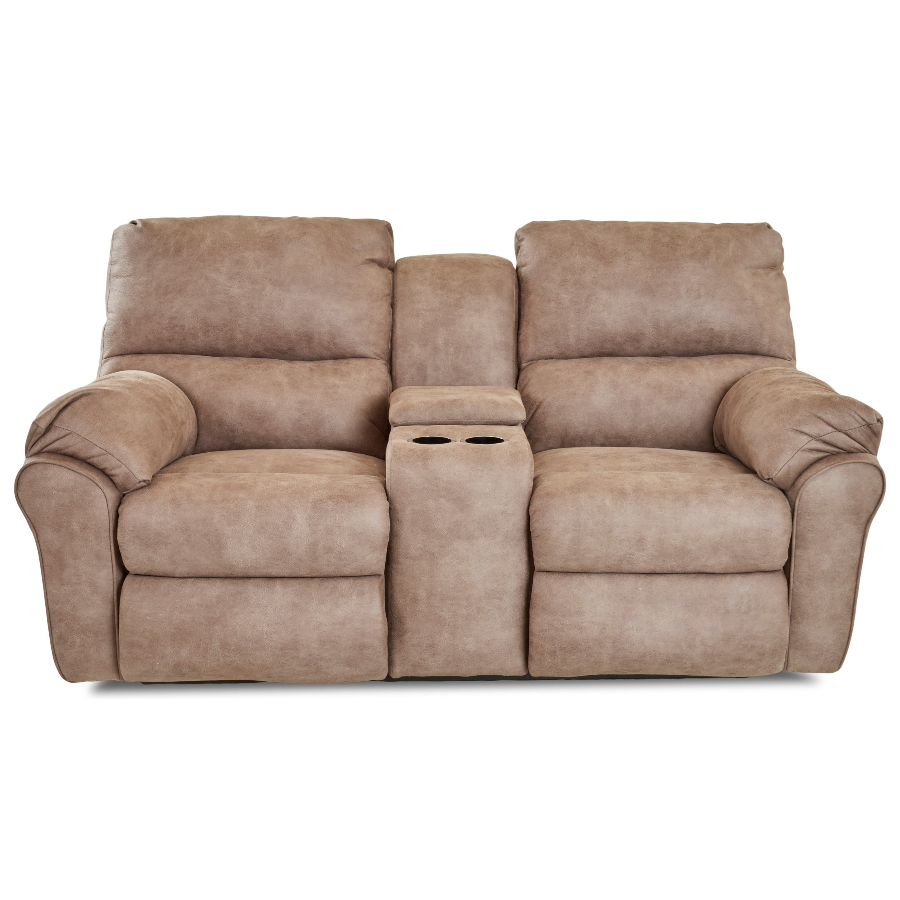 Casual Power Reclining Loveseat with Cupholder Storage Console
