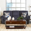 PW3RS Ends w/Pwr, Ctr-Manual Sofa w/ Pillows