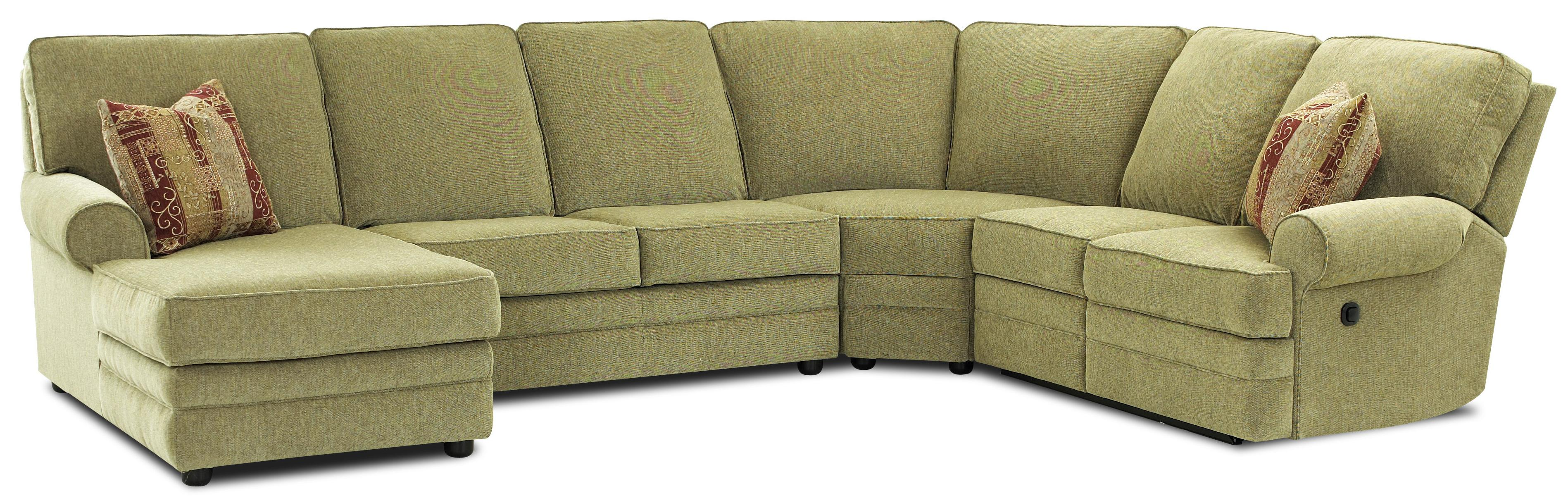 Reclining Sectional with Left Side Chaise by Klaussner