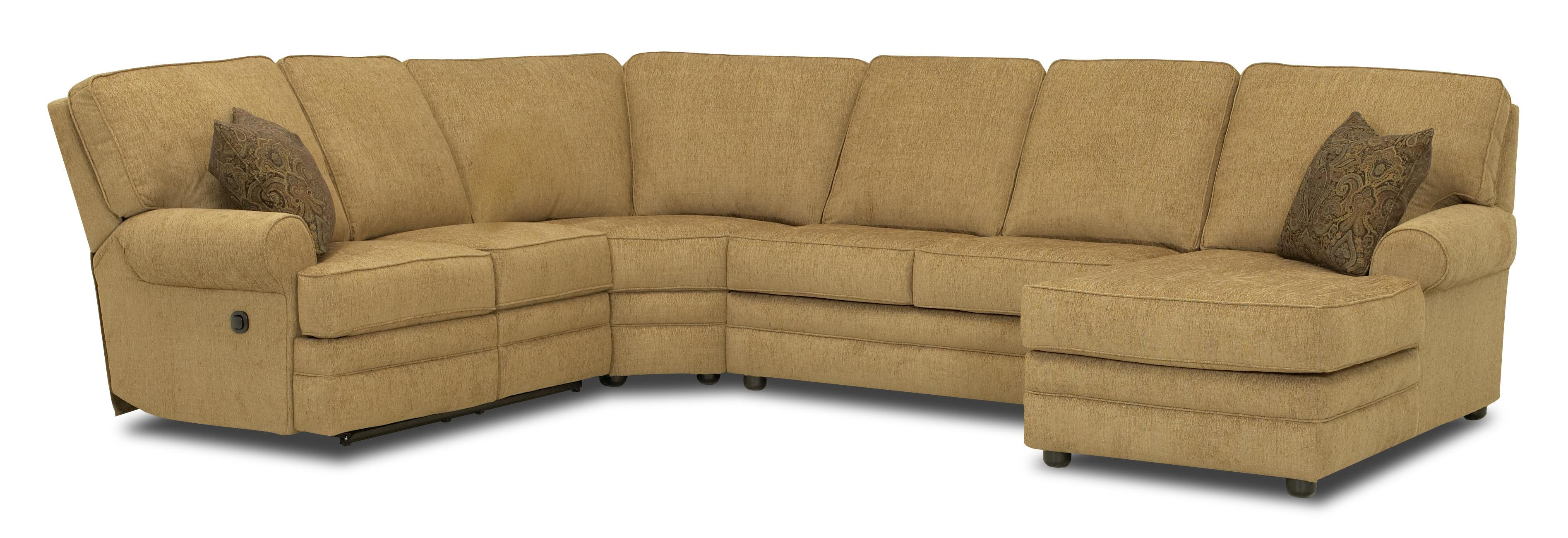 Reclining Sectional With Right Side Chaise By Klaussner