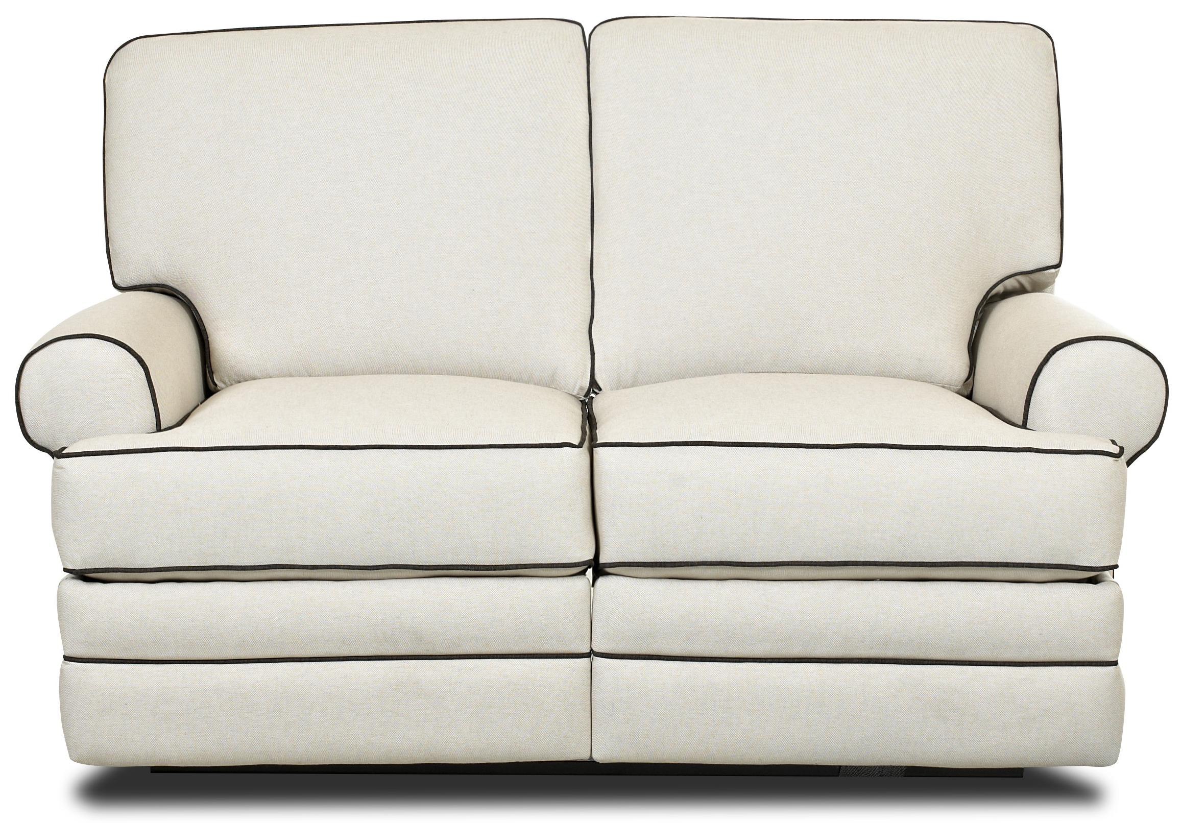Classic Reclining Loveseat with Rolled Arms  sc 1 st  Wolf Furniture : leather loveseat power recliner - islam-shia.org
