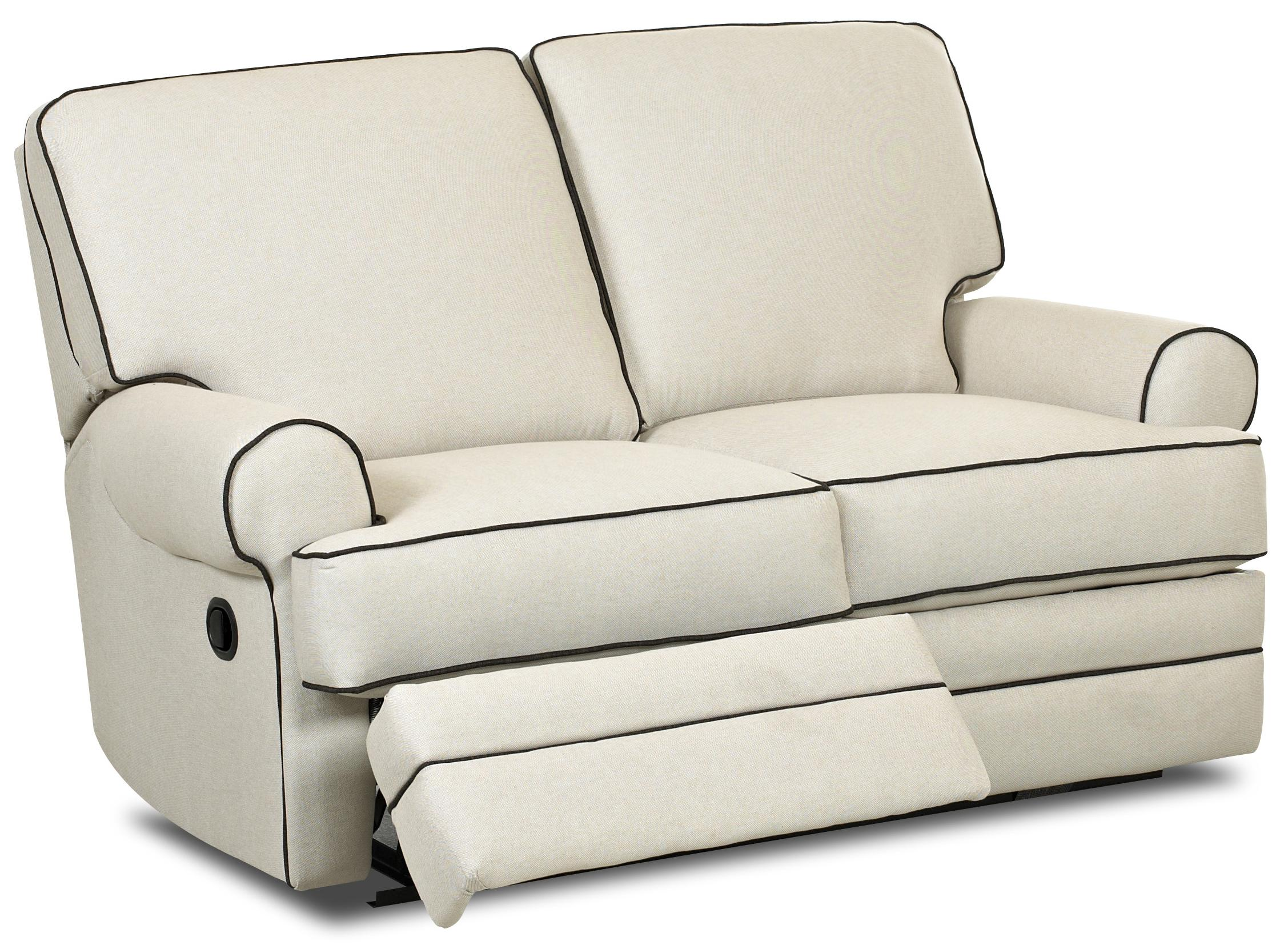 Classic Power Reclining Loveseat With Rolled Arms By