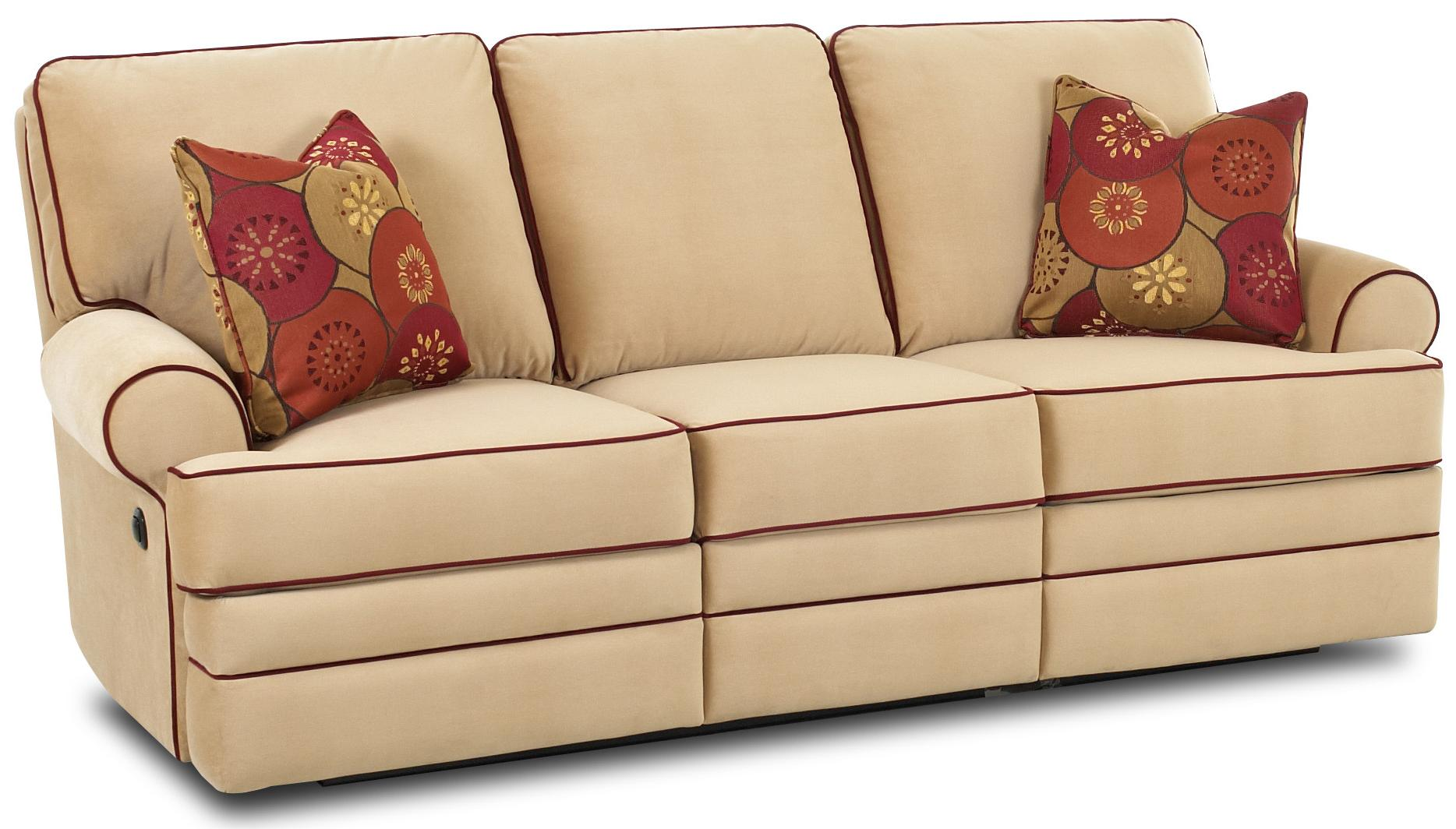 Power dual reclining sofa by klaussner wolf and gardiner Power reclining sofas and loveseats