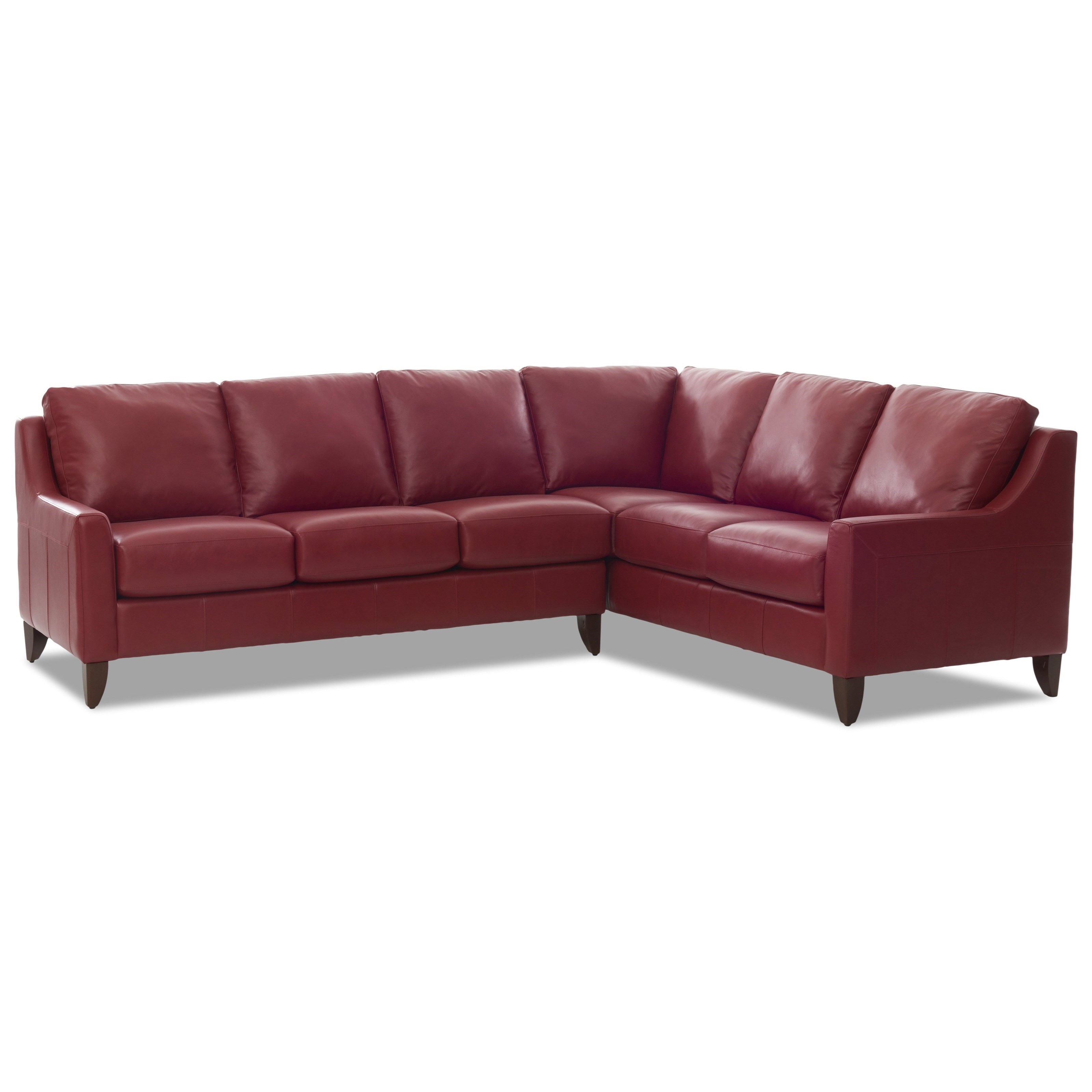 Casual 5 Seat Sectional with Track Arms by Klaussner | Wolf Furniture