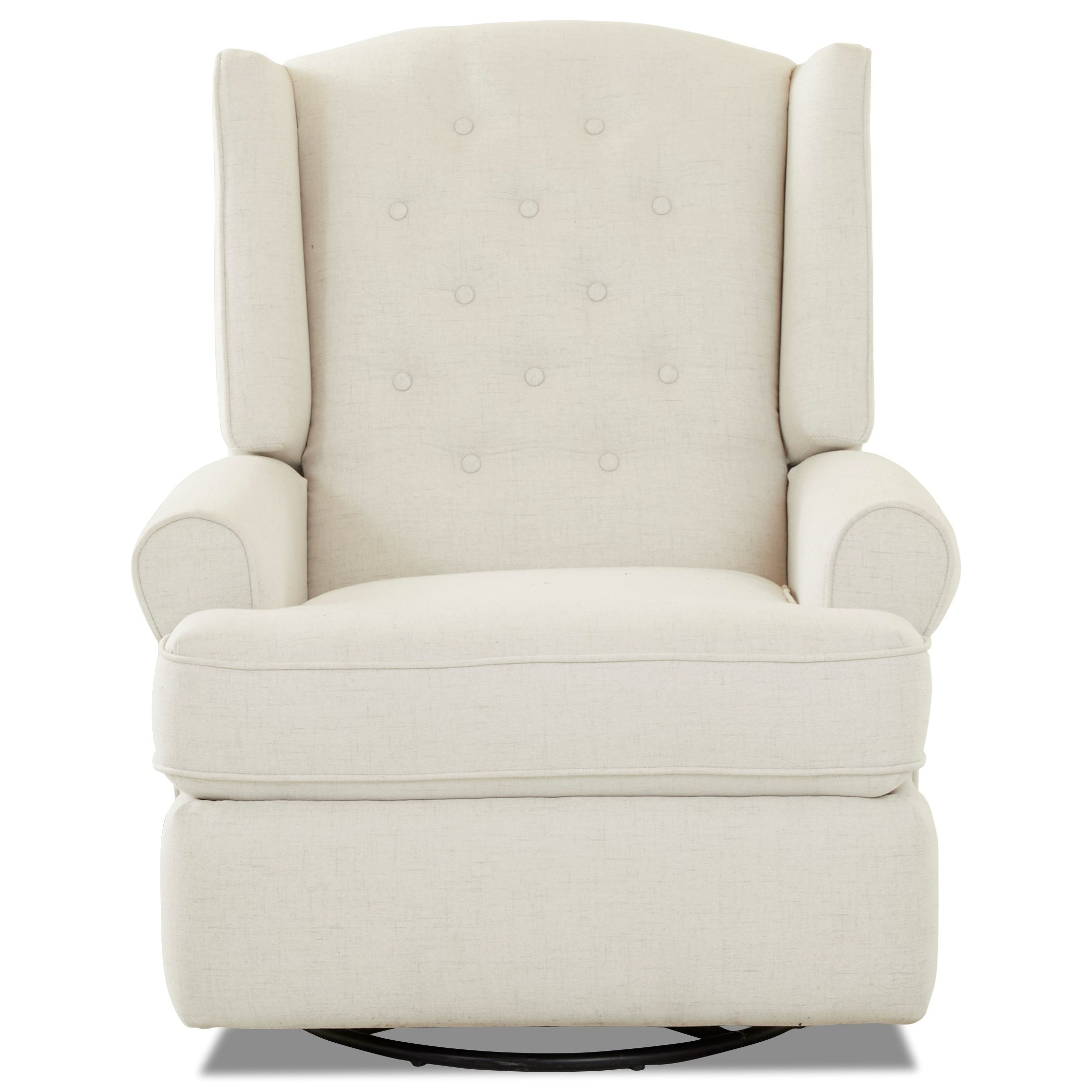 Traditional Tufted Wing Back Swivel Rocking Recliner