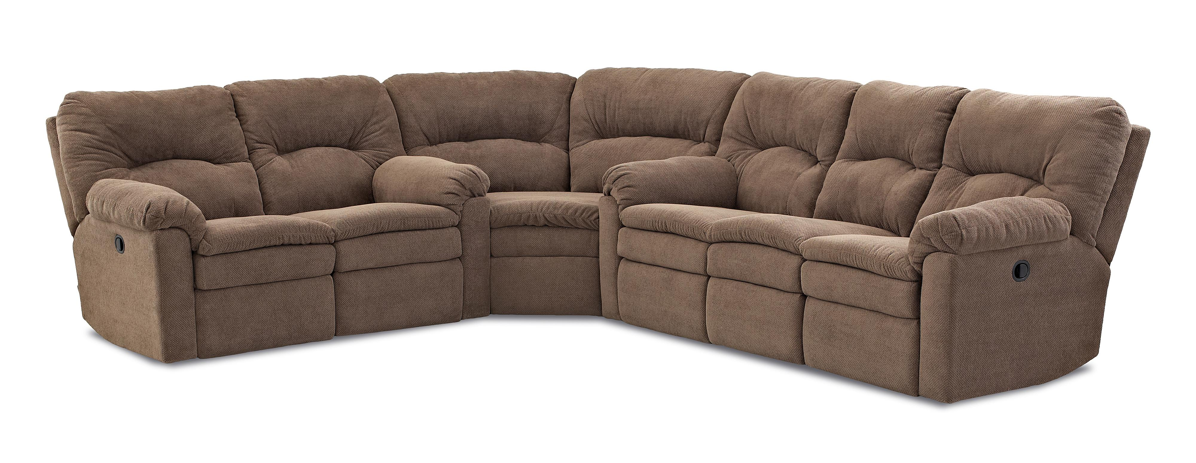 Casual 3 Piece Power Reclining Sectional Sofa by Klaussner