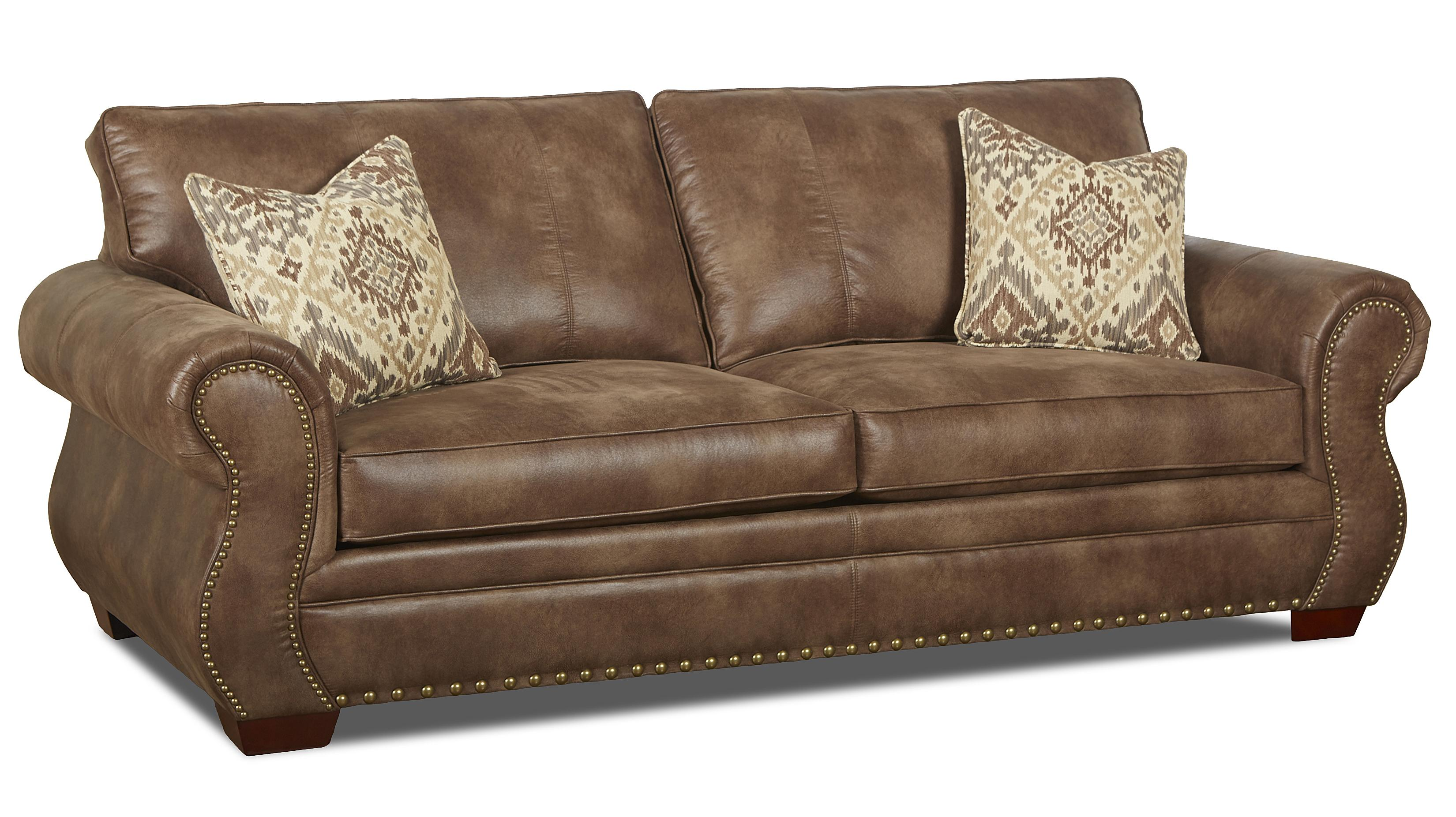 Traditional Dreamquest Regular Sleeper Sofa with Nailhead Trim and