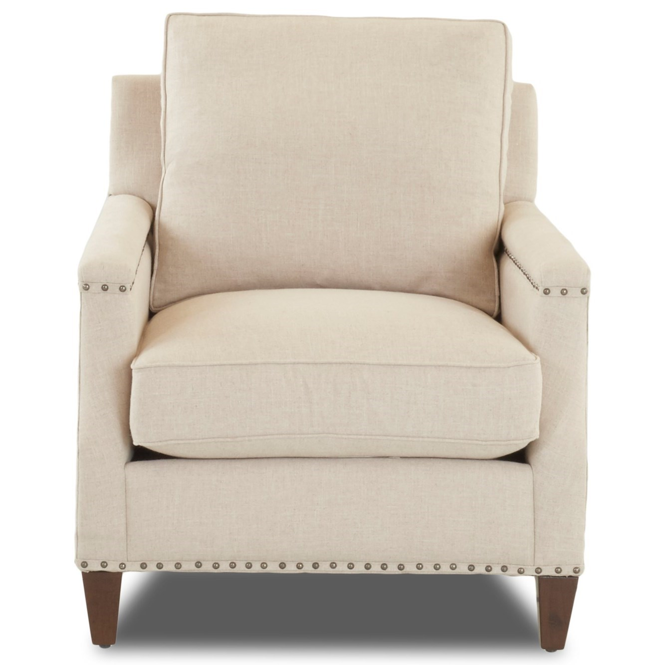 Transitional Chair with Nailhead Studs (No Trim)