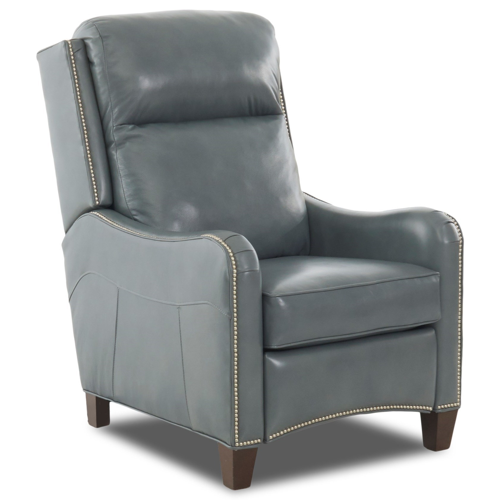 Transitional Push Back Recliner with Nailheads