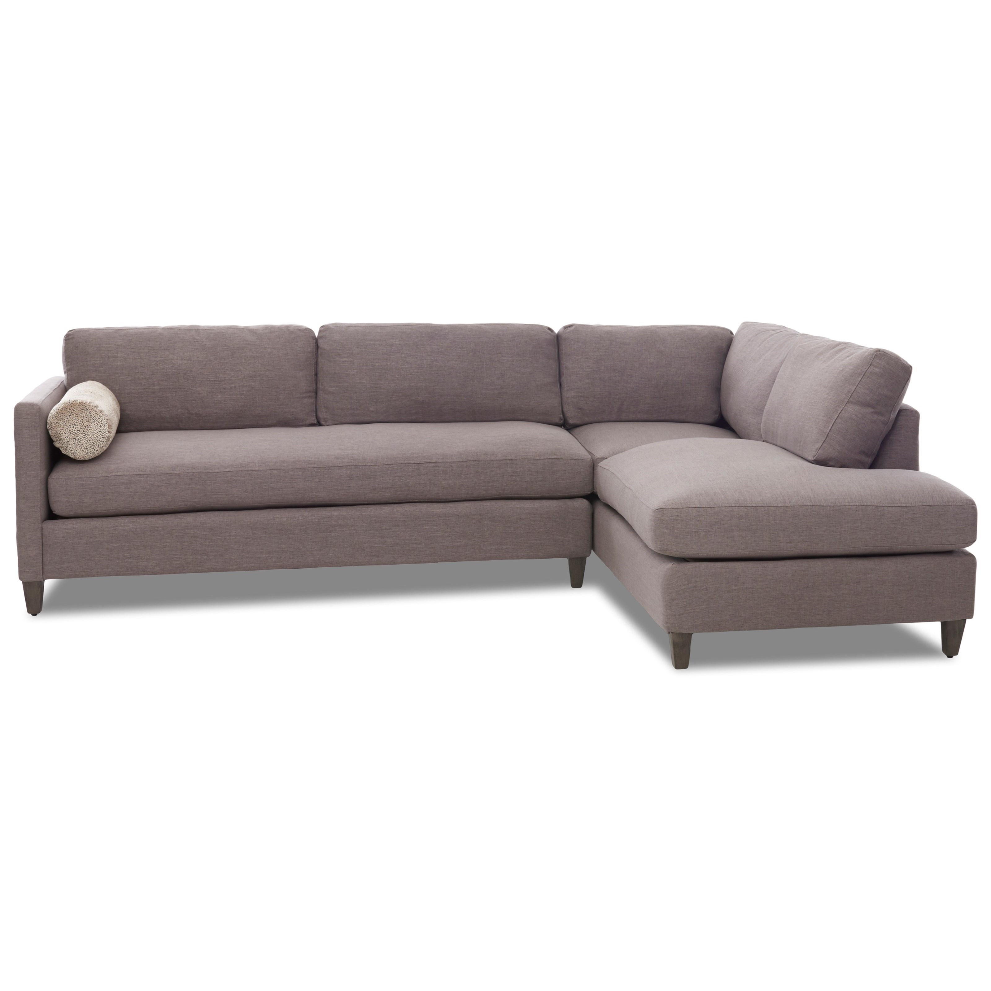 2-Piece Sectional with Chaise and Down Blend Cushions