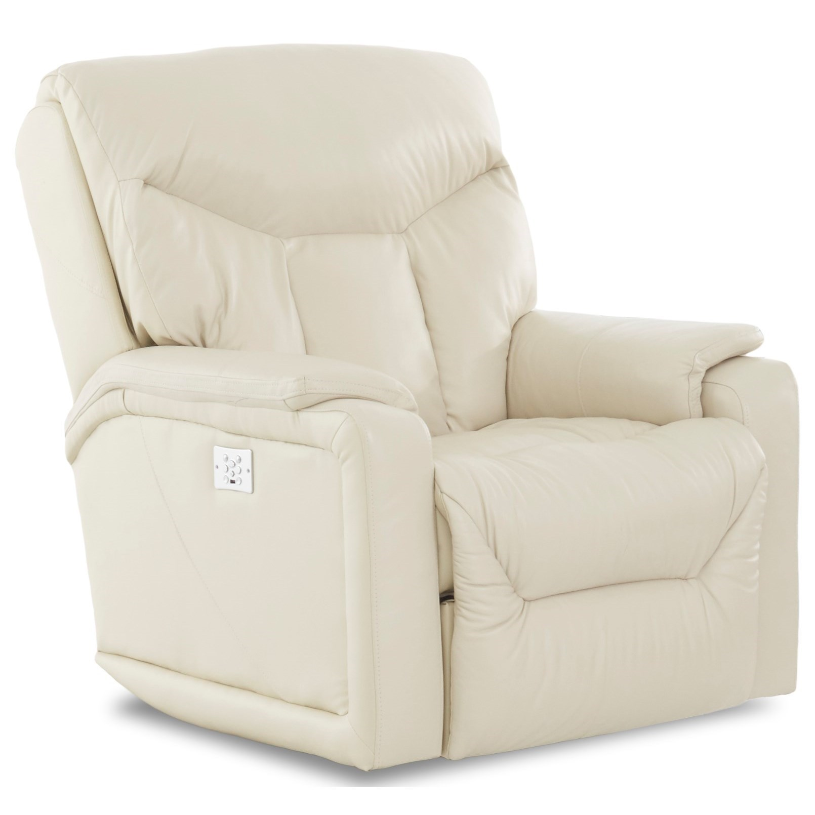 Casual Power Rocker Recliner with USB Charging Port, Bluetooth App, & Power Head/Lumbar