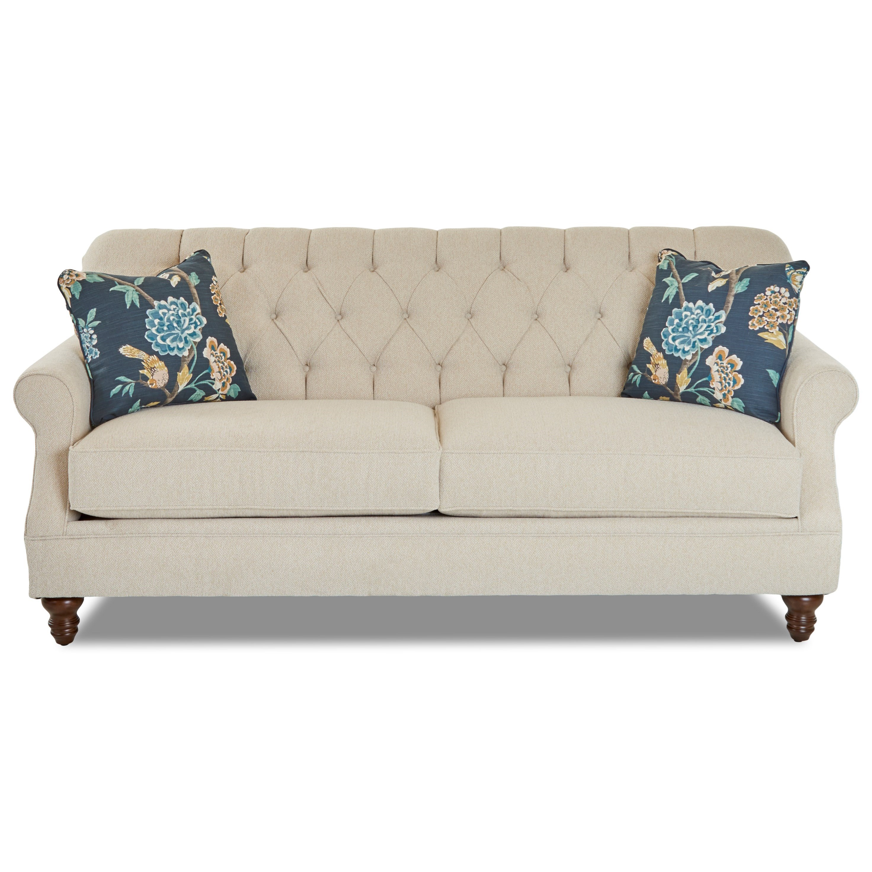 Traditional Tufted Apartment-Size Sofa