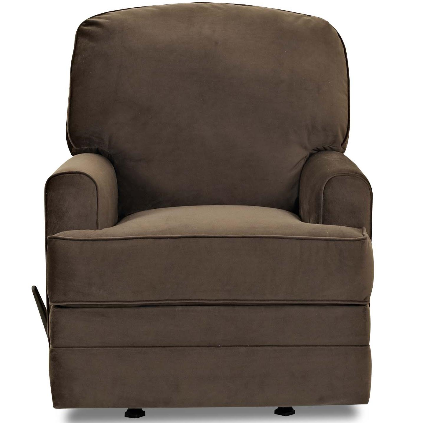 Casual Swivel Rocking Recliner with Track Arms