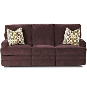Klaussner Callahan Casual Reclining Sofa with Pillows