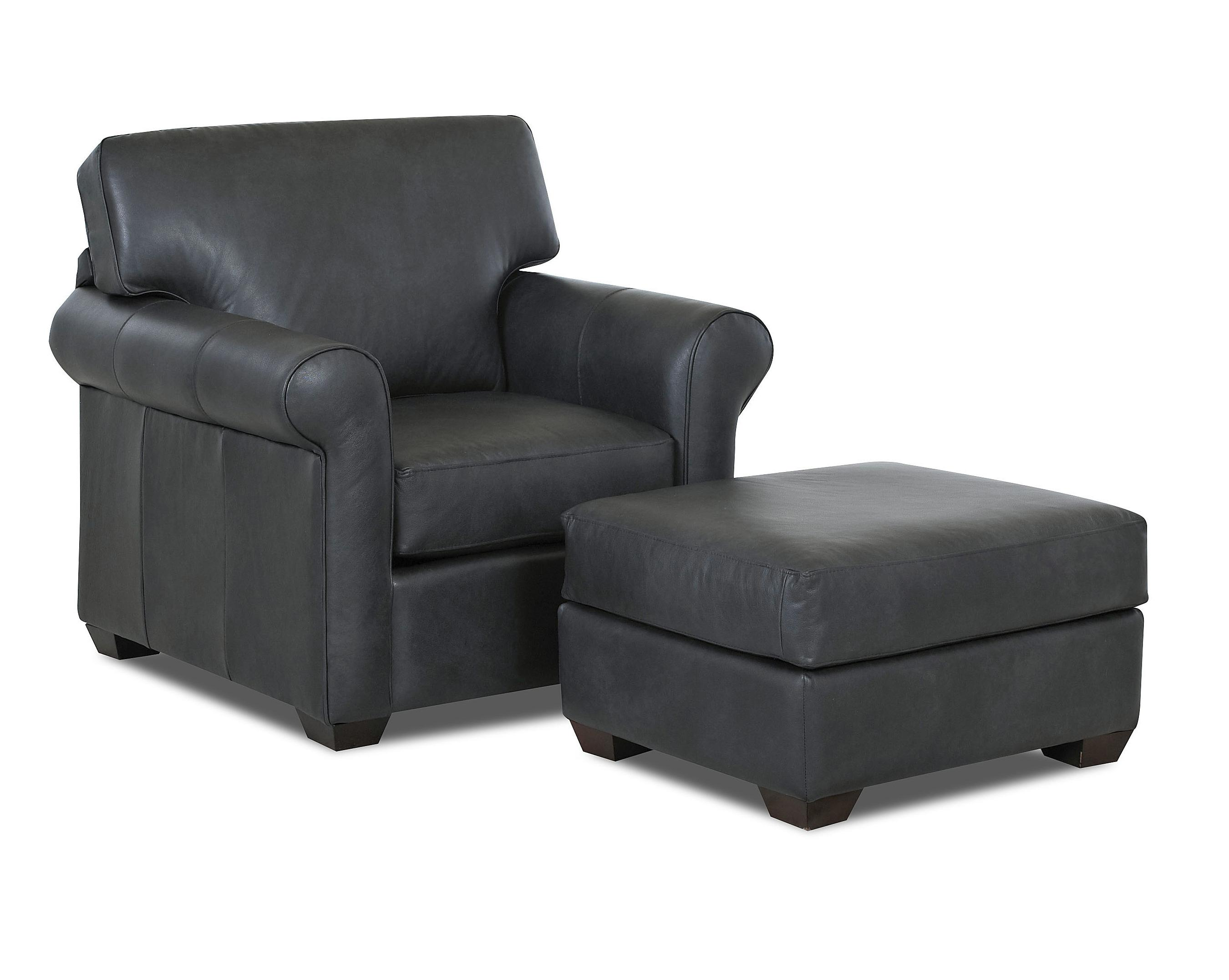 Transitional Chair and Ottoman Set