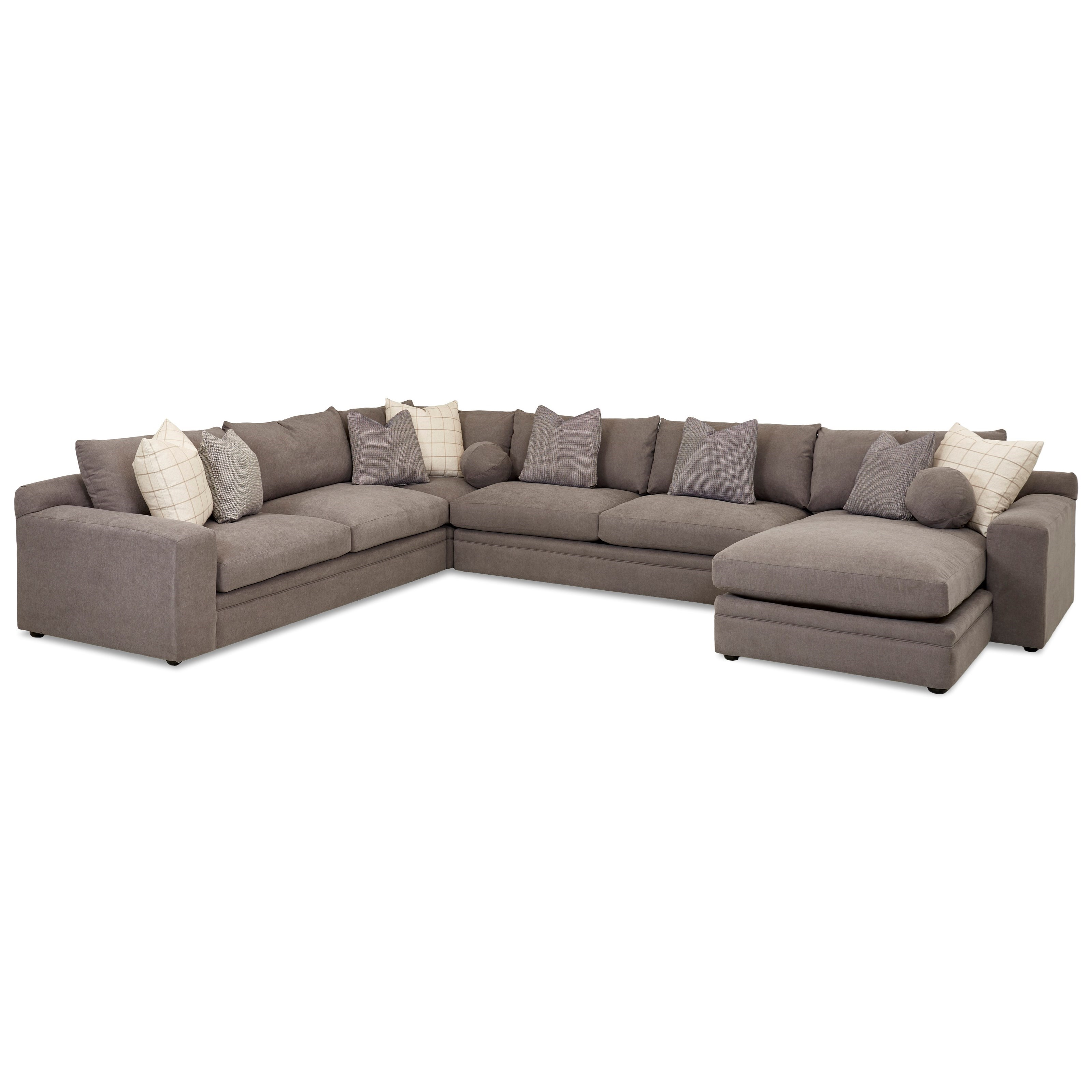 Casual Four Piece Sectional Sofa with RAF Chaise by ...