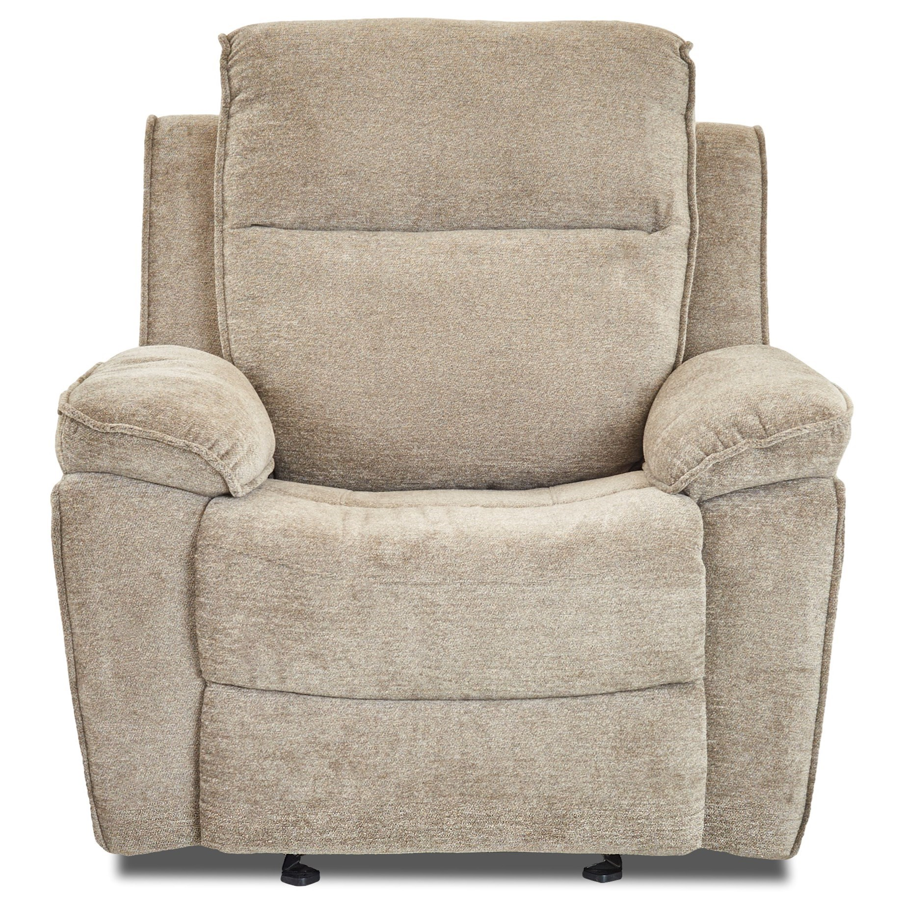 Casual Reclining Chair with Bucket Seat and Pillow Arms