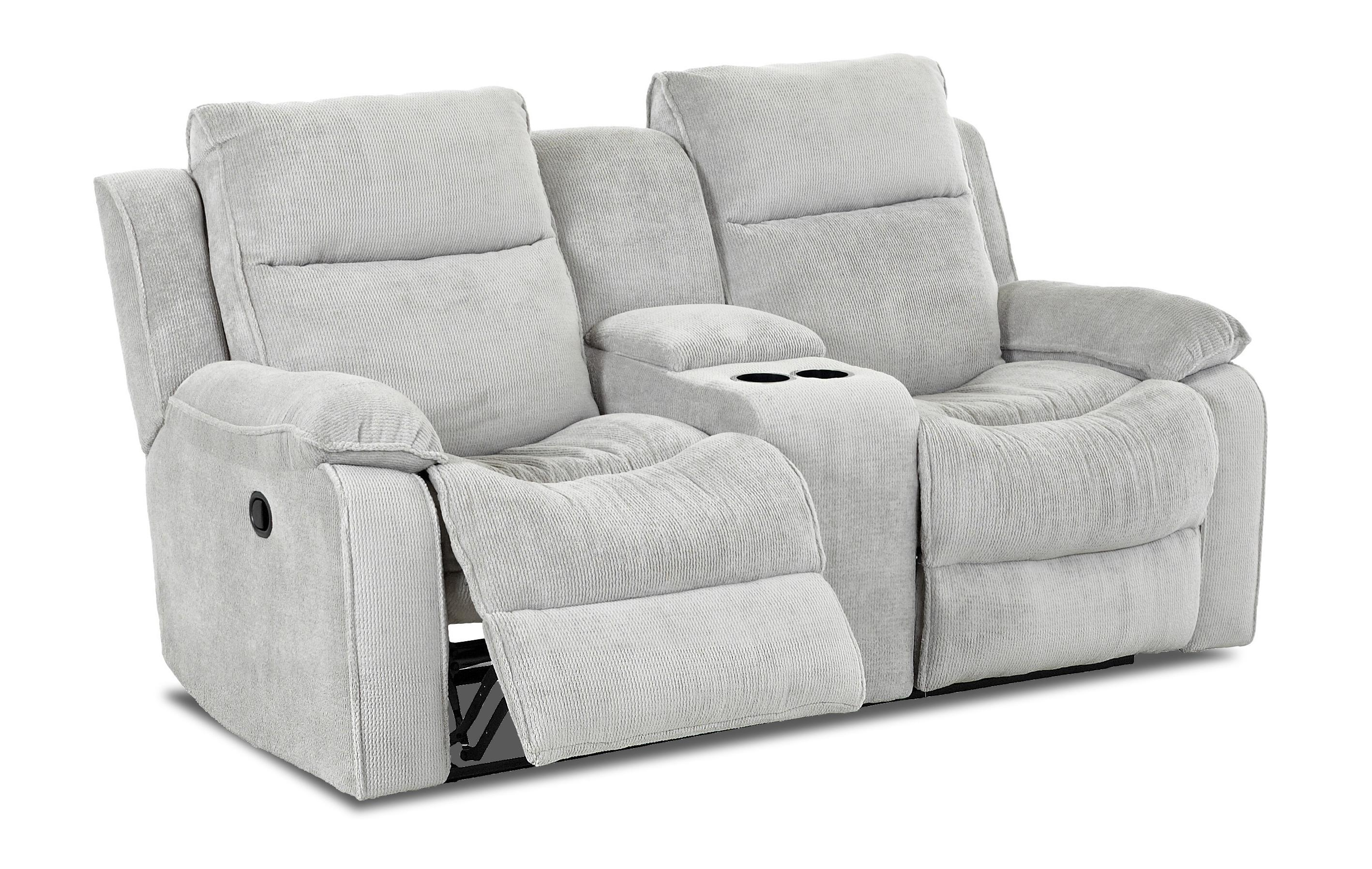 Casual Reclining Loveseat With Console By Klaussner Wolf