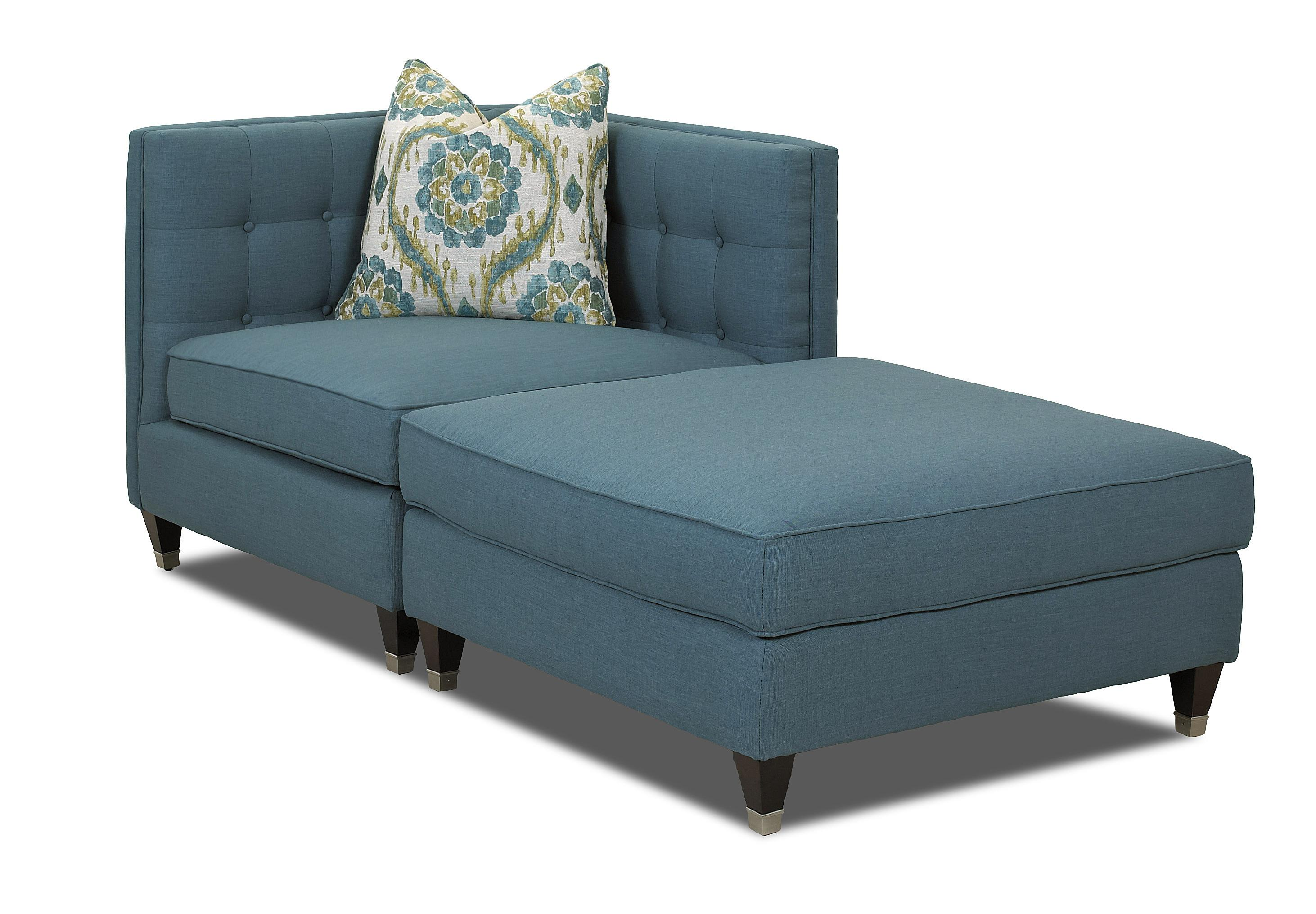 Two Piece Sectional Sofa with Tufting and Tuxedo Arms by Klaussner