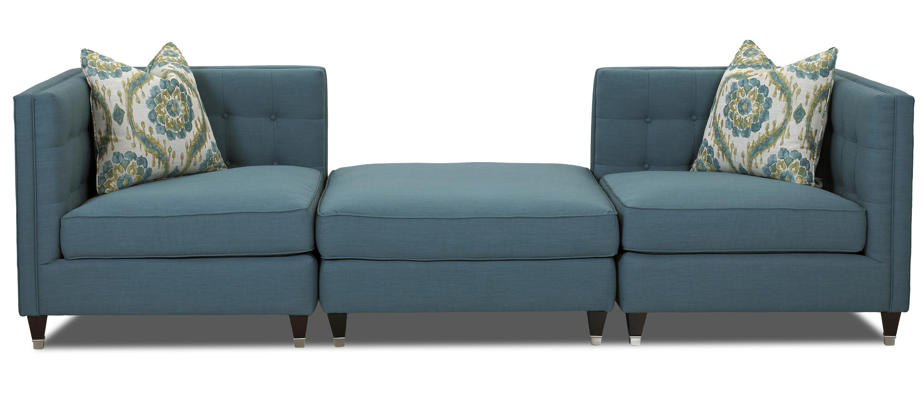 Contemporary Corner Chair with Tufting. Contemporary Corner Chair with Tufting by Klaussner   Wolf and