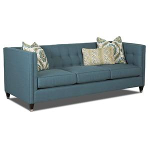Contemporary Tuxedo Sofa With Tufted Back