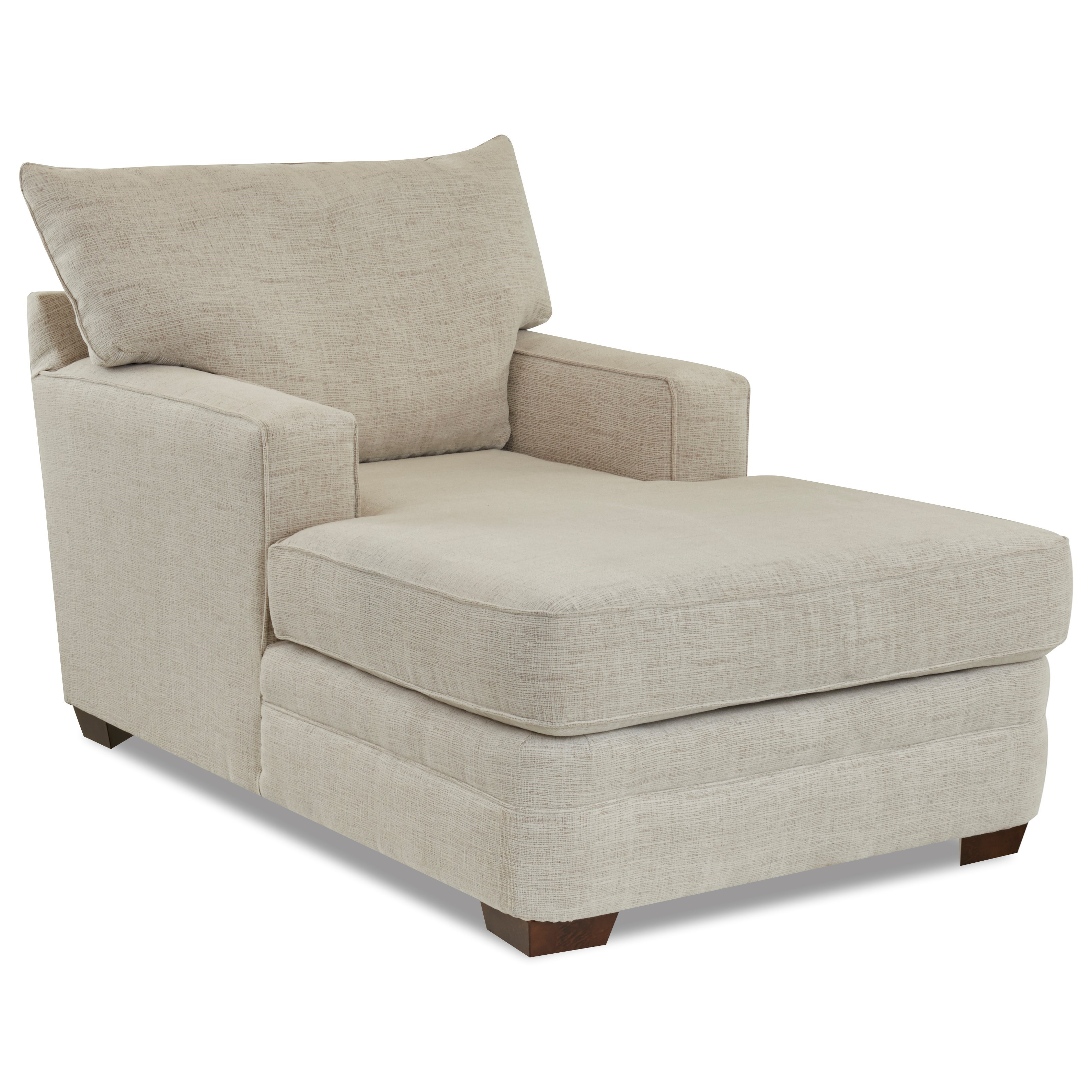 Casual Chaise Lounge with Square Track Arms