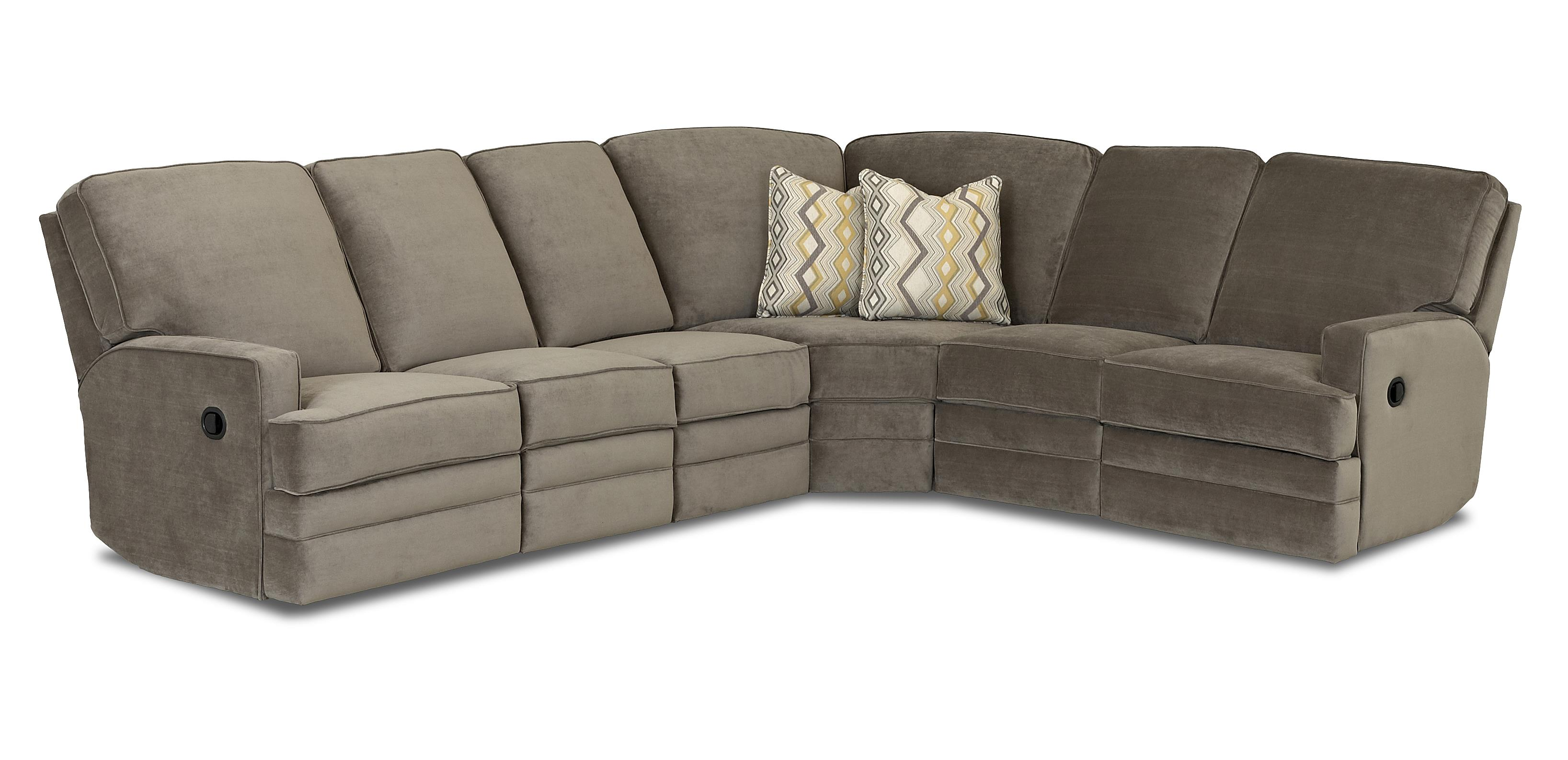 Casual Power Reclining Sectional Sofa