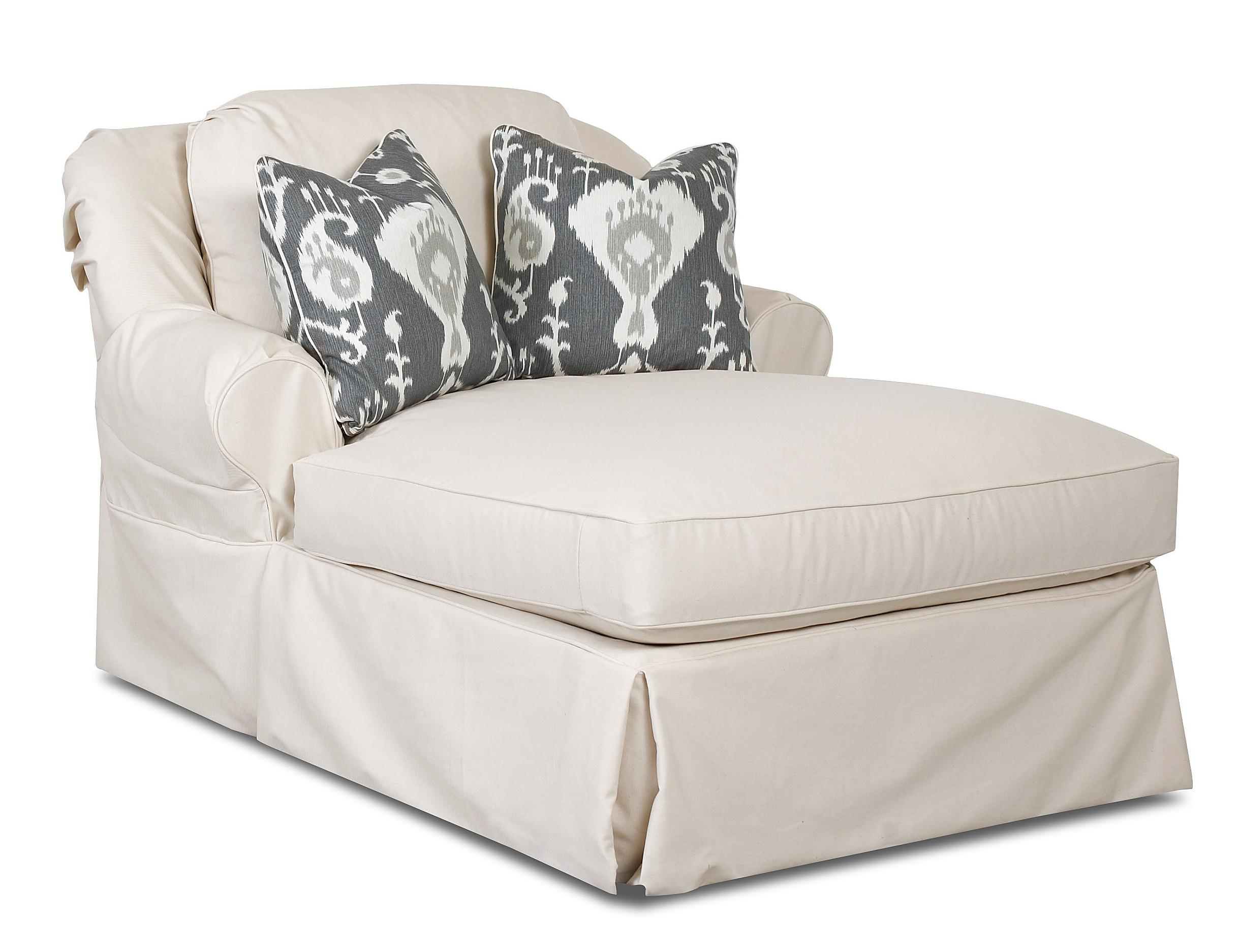 Chaise lounge with 2 accent pillows by klaussner wolf for Accent chaise lounge