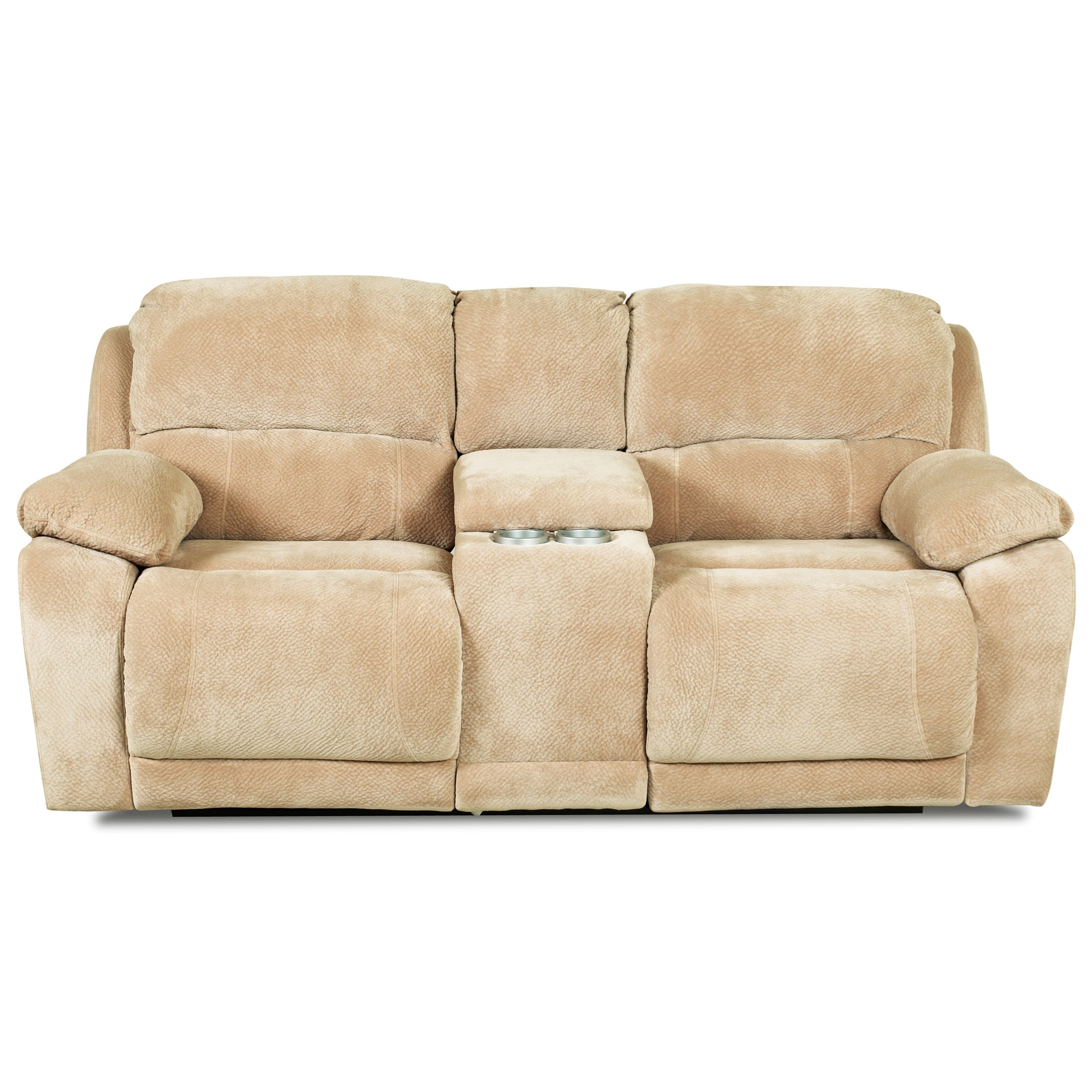 Dual Unit Reclining Loveseat with Storage Console