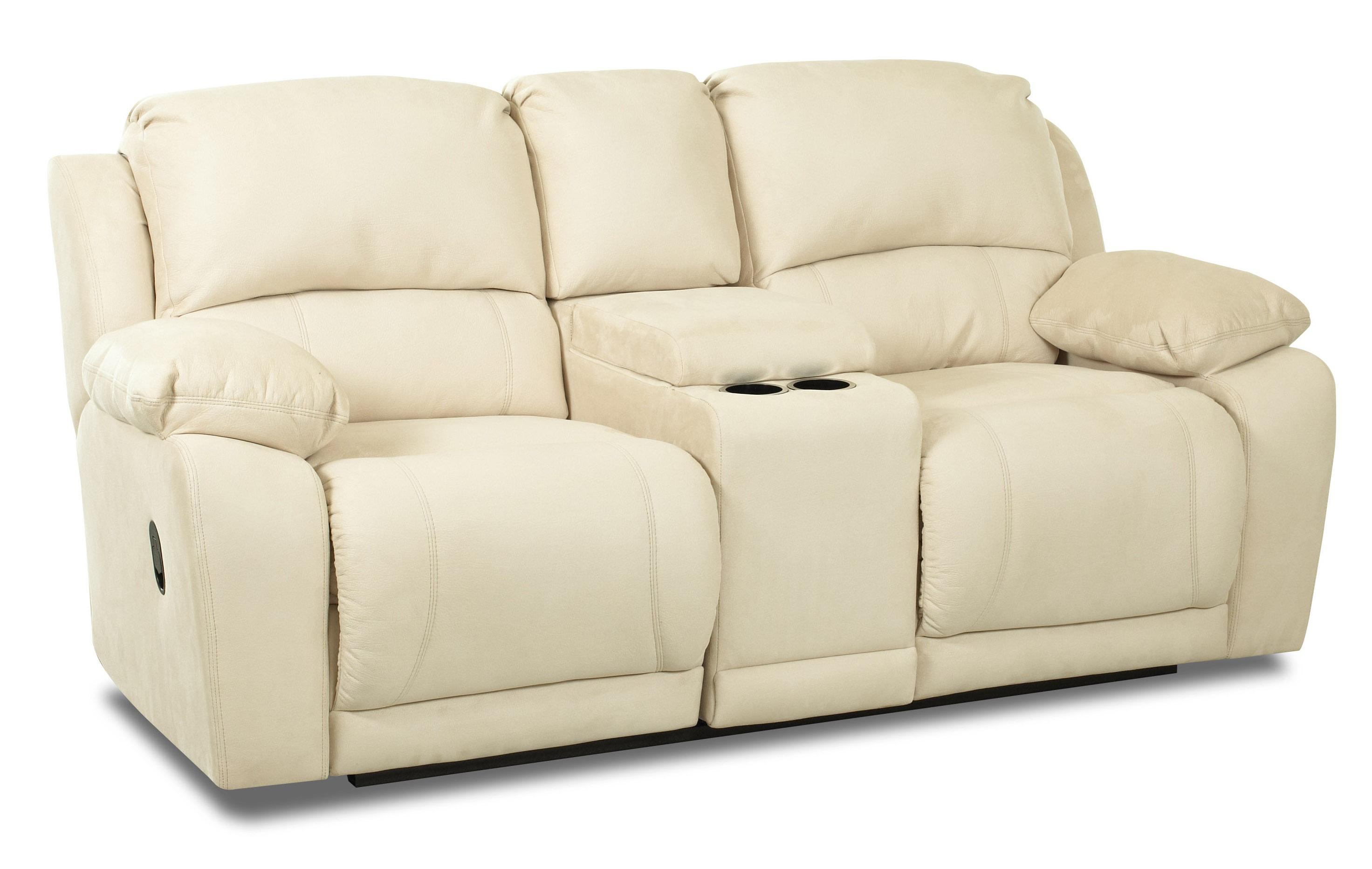 Dual Unit Reclining Loveseat with Storage Console  sc 1 st  Wolf Furniture & Dual Unit Reclining Loveseat with Storage Console by Klaussner ... islam-shia.org