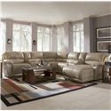 Klaussner Charmed Seven Piece Sectional with Storage Consoles - Shown in Room Setting