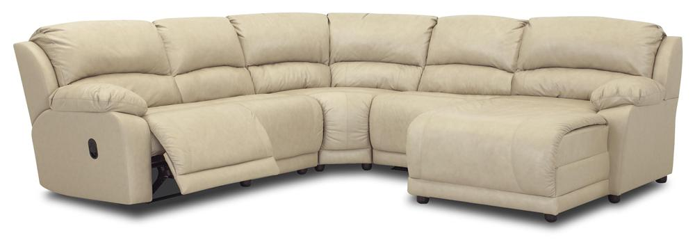 Five Piece Sectional Sofa with Chaise by Klaussner