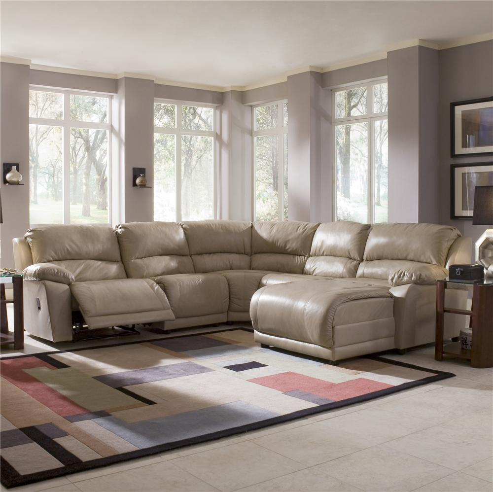 Five Piece Sectional Sofa With Chaise By Klaussner Wolf And  ~ Five Piece Sectional Sofa