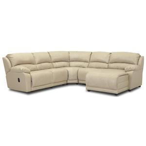 Simple Elegance Charmed Five Piece Sectional Sofa