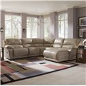 Klaussner Charmed Five Piece Sectional Sofa with Chaise - Shown in Room Setting