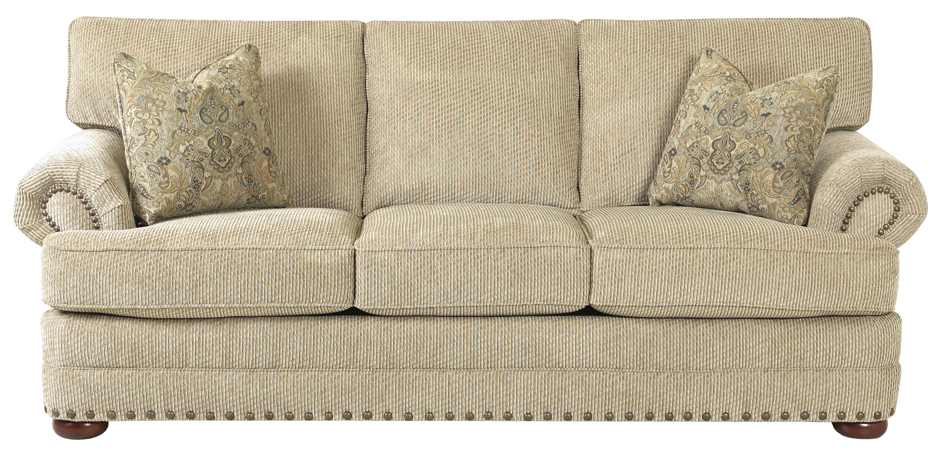 Traditional Styled Sofa with Nail Head Accent Trim