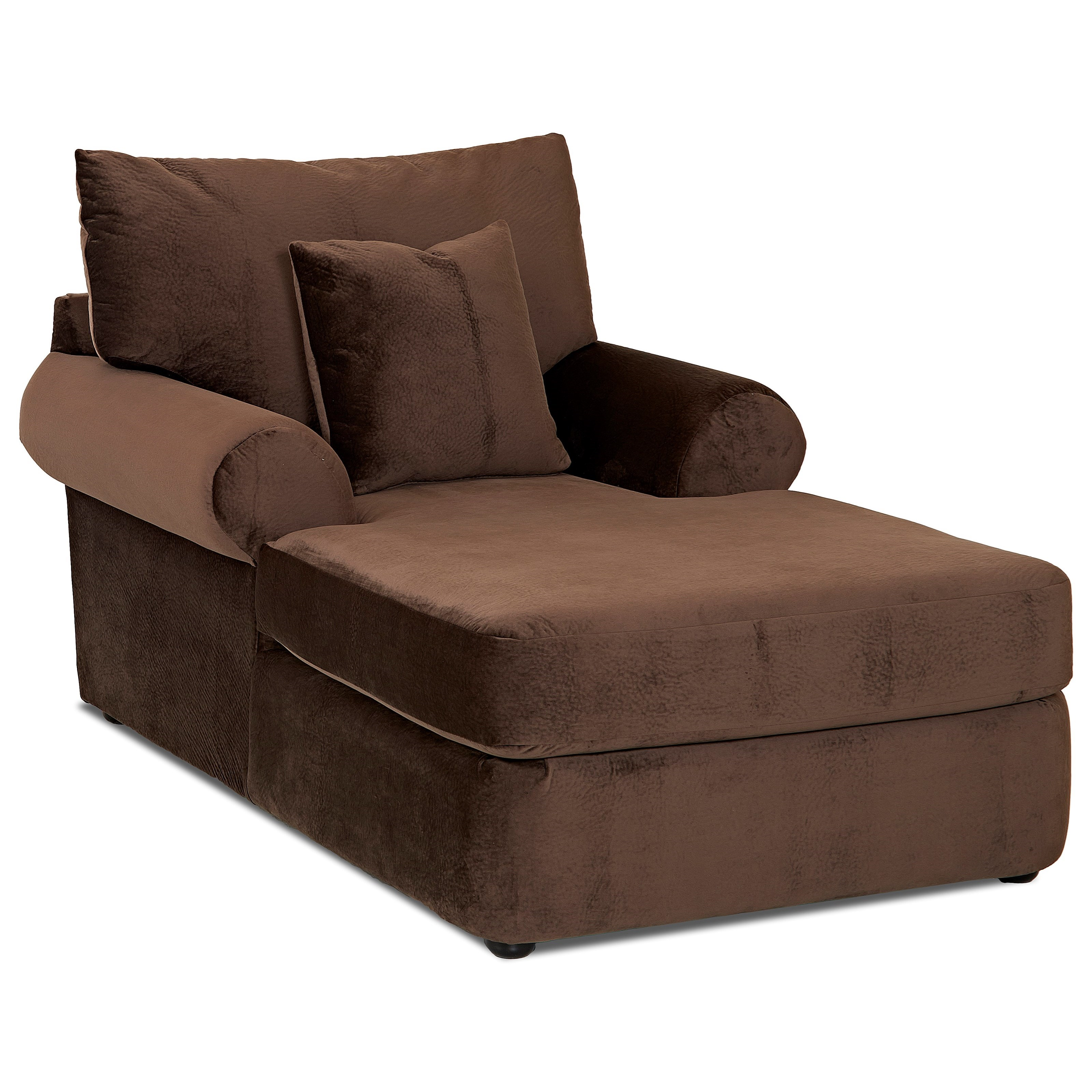 Casual Plush Chaise Lounge