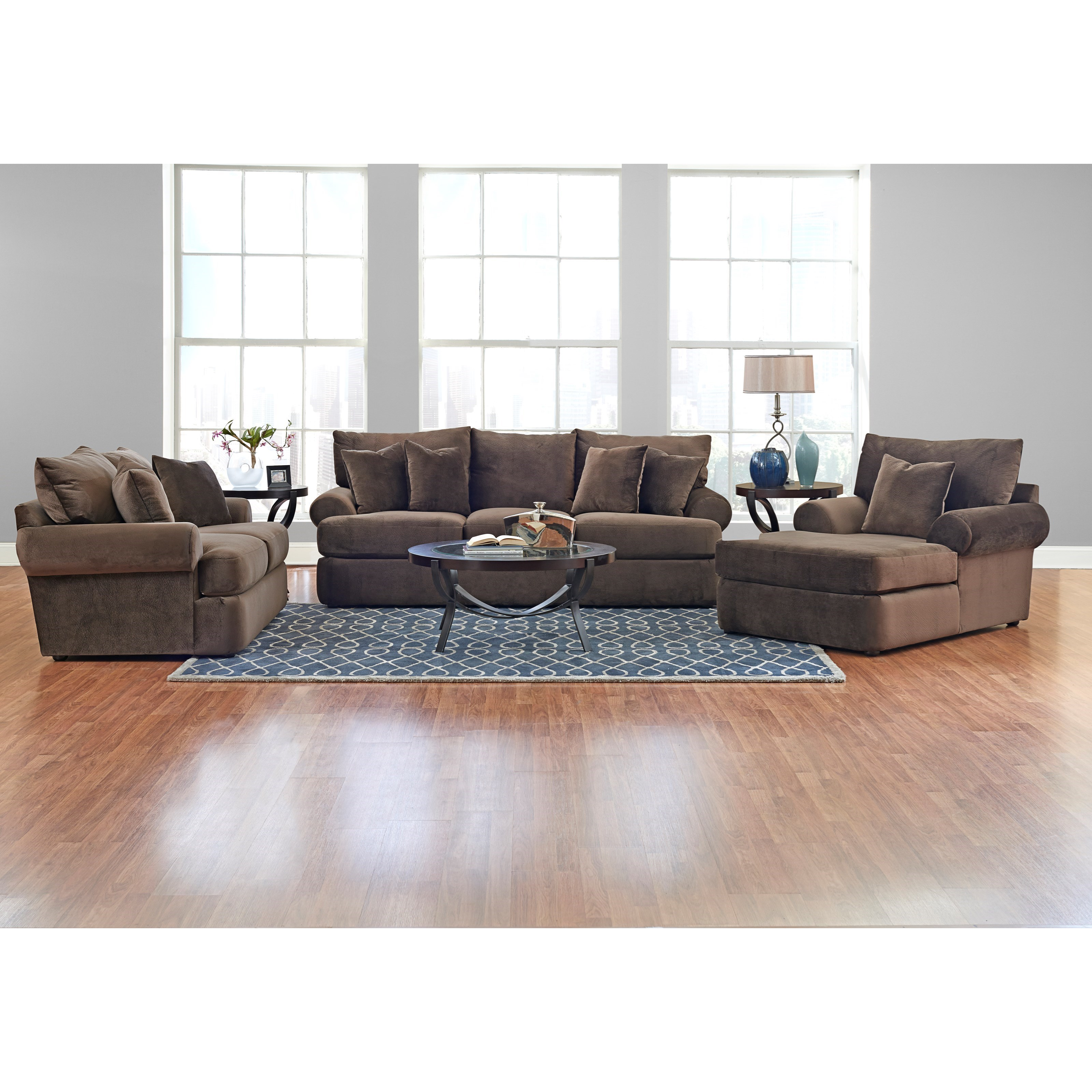 Casual plush chaise lounge by klaussner wolf and for Casual chaise lounge